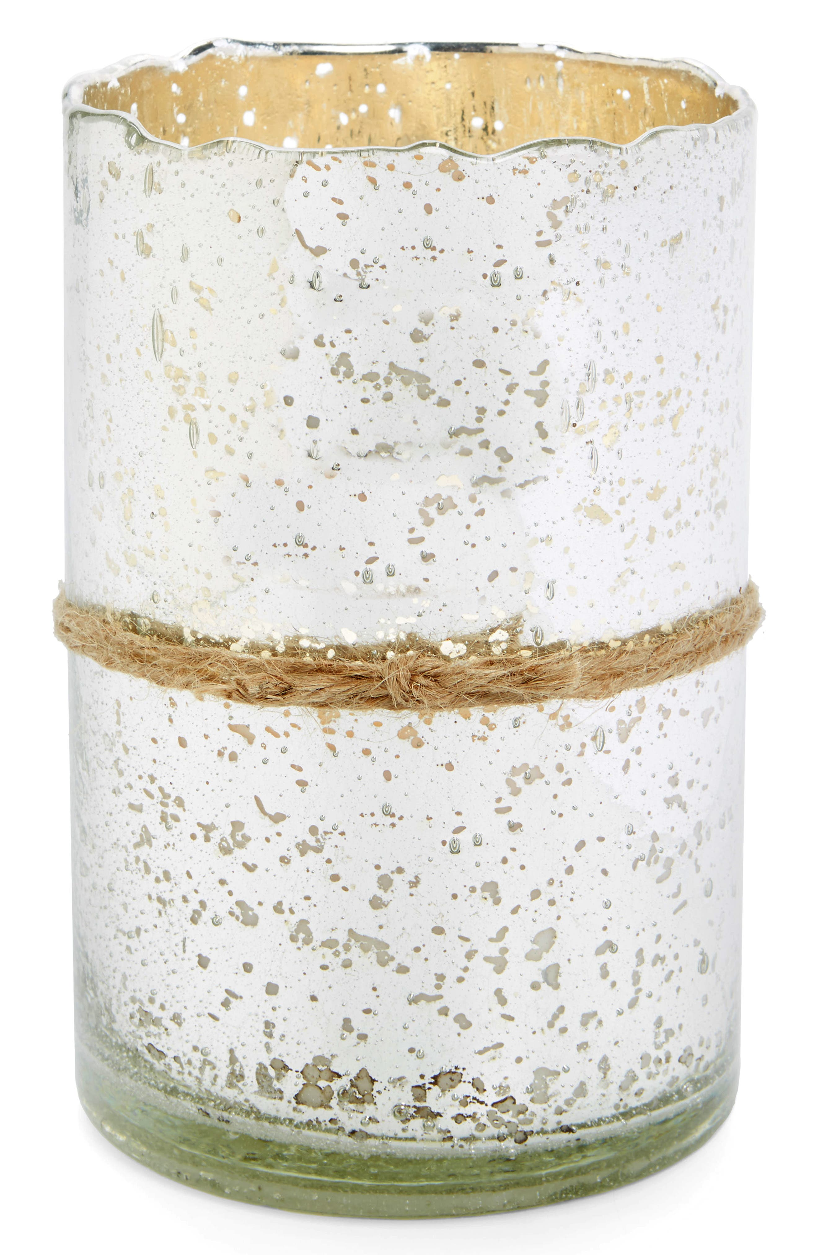 Alternate Image 1 Selected - Himalayan Trading Post Mercury Glass Scented Hurricane Candle