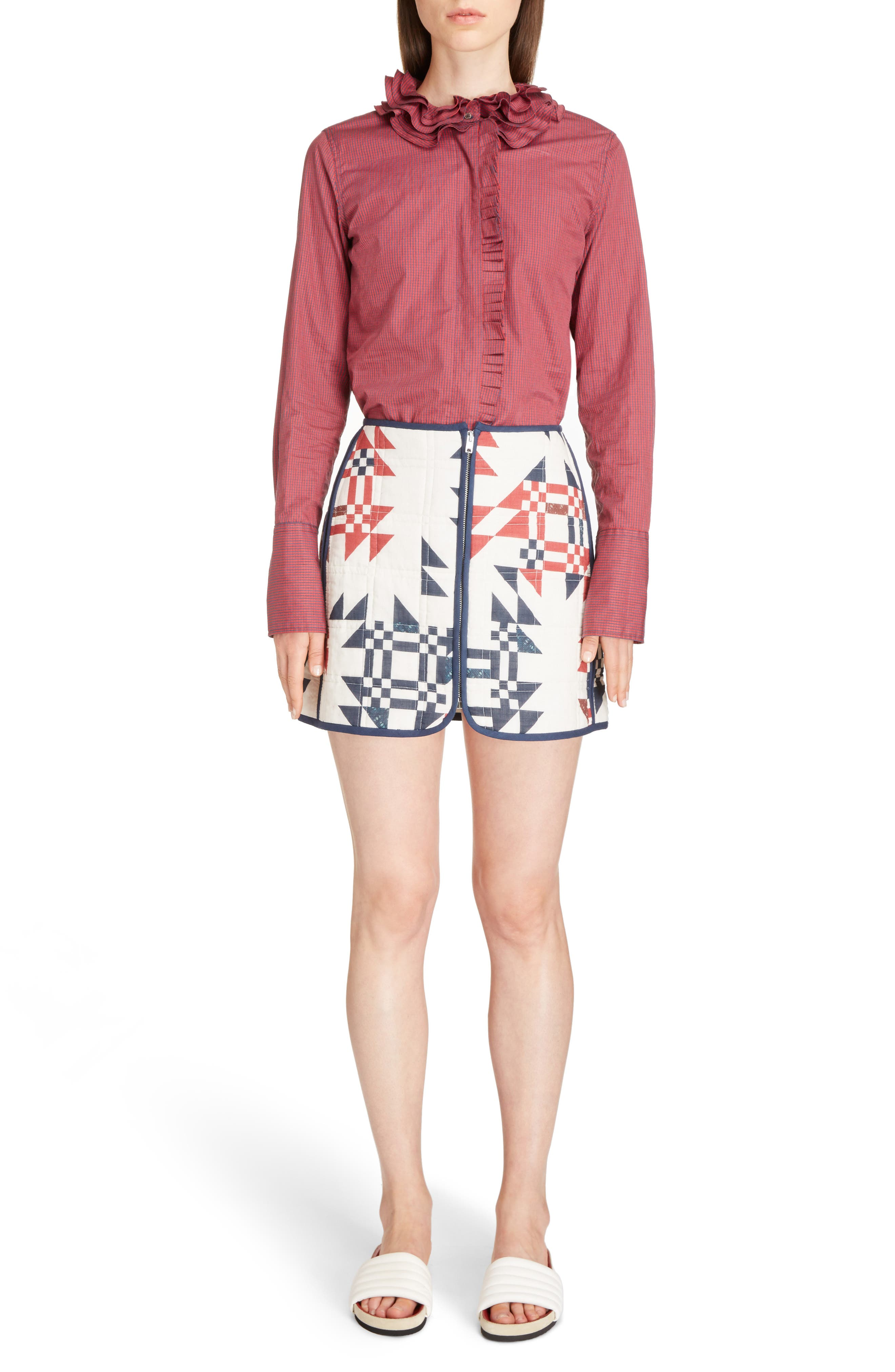 Alternate Image 8  - Isabel Marant Lickly Origami Quilted Cotton Skirt