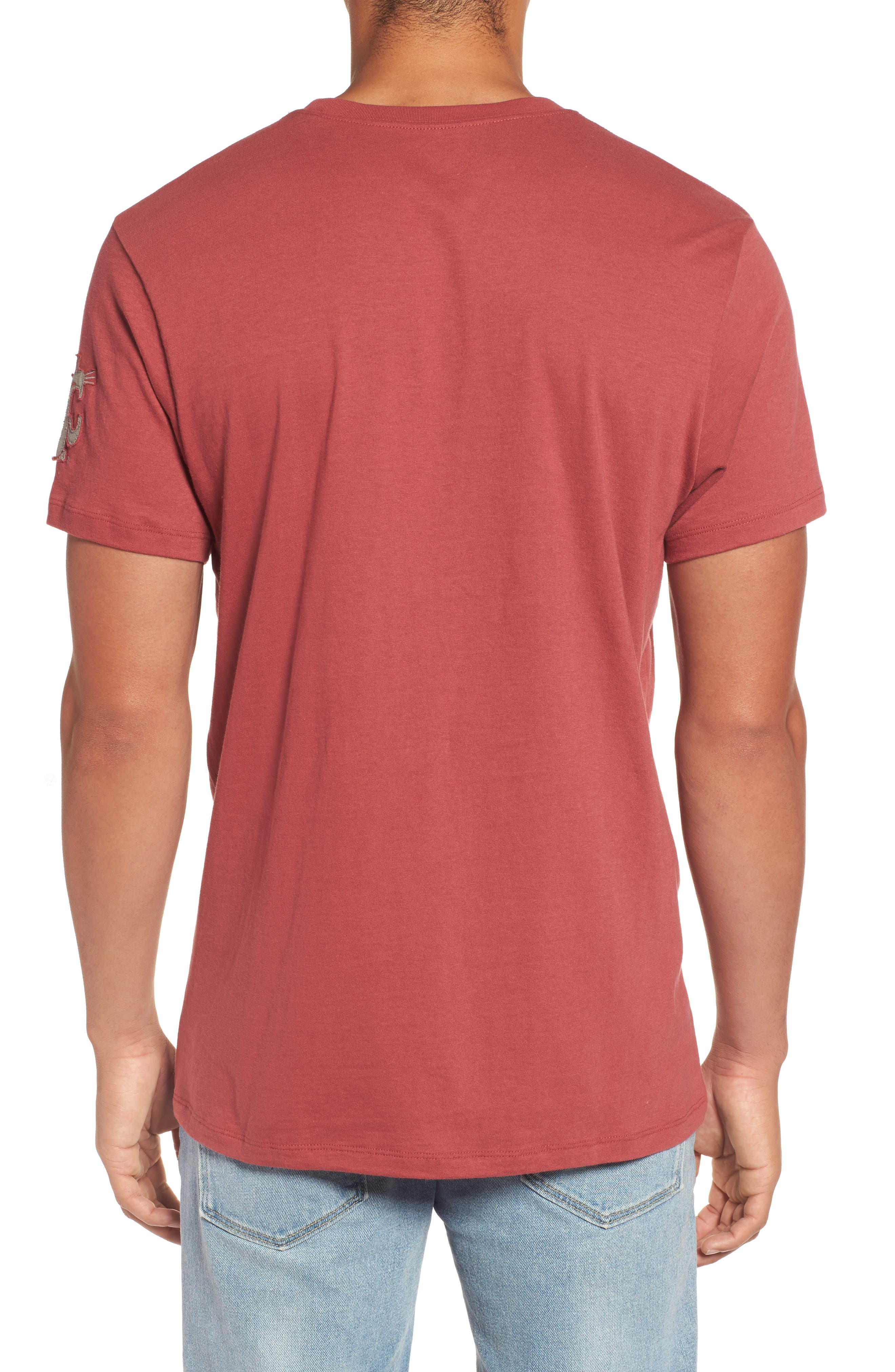 Washington State University Cougars Borderland T-Shirt,                             Alternate thumbnail 2, color,                             Red