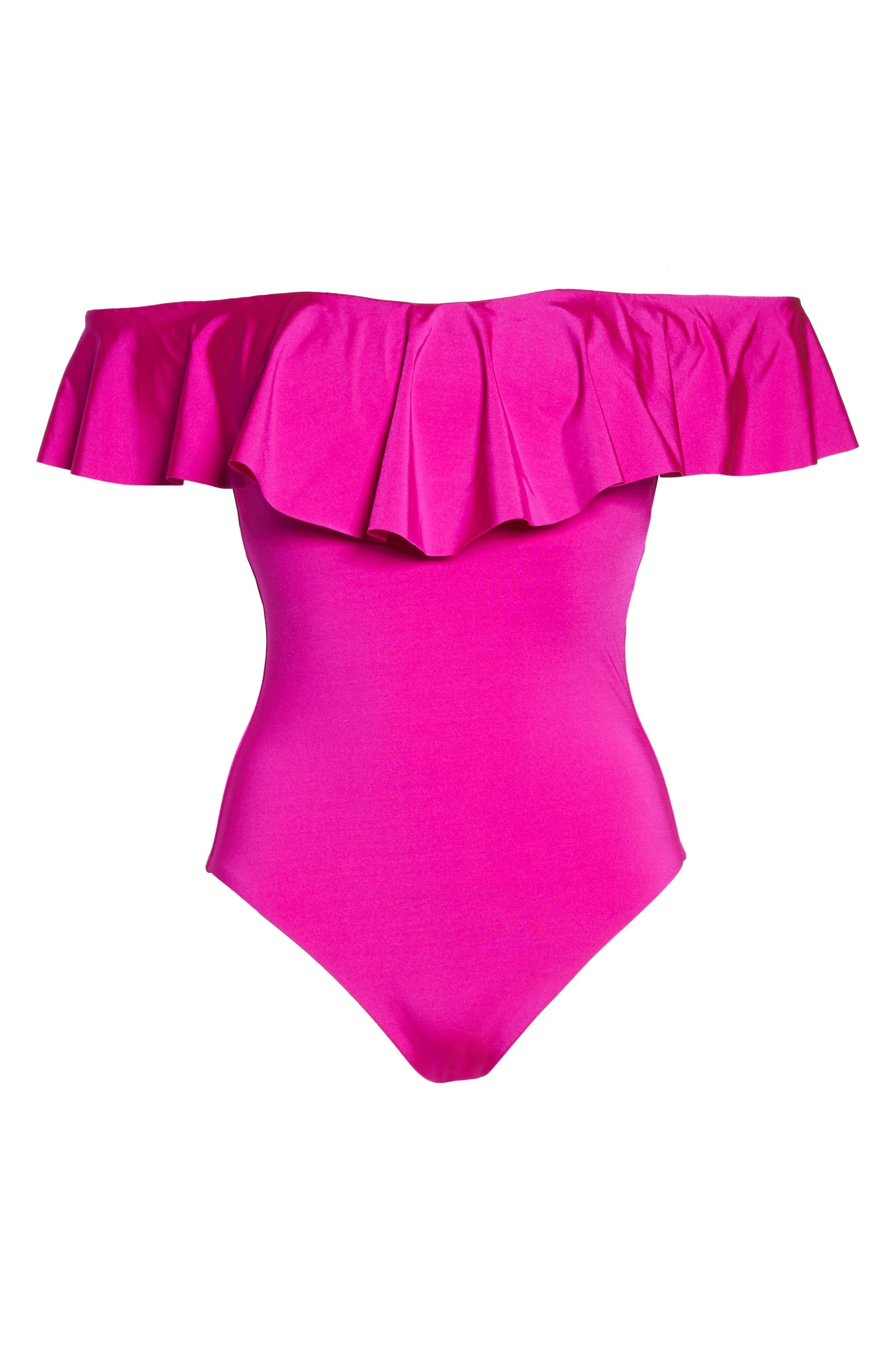 Alternate Image 6  - Trina Turk Off the Shoulder One-Piece Swimsuit