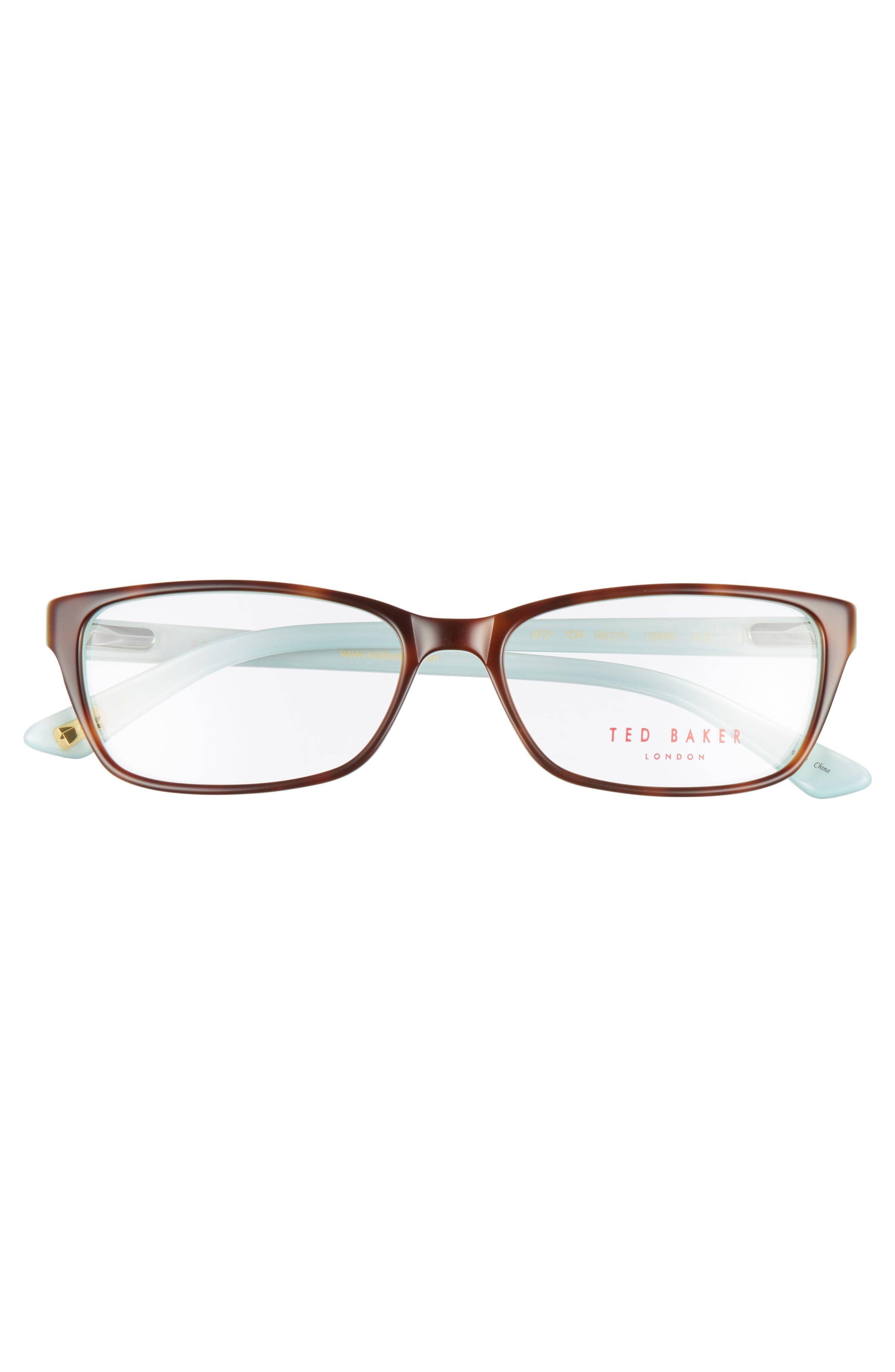 53mm Optical Glasses,                             Alternate thumbnail 3, color,                             Brown