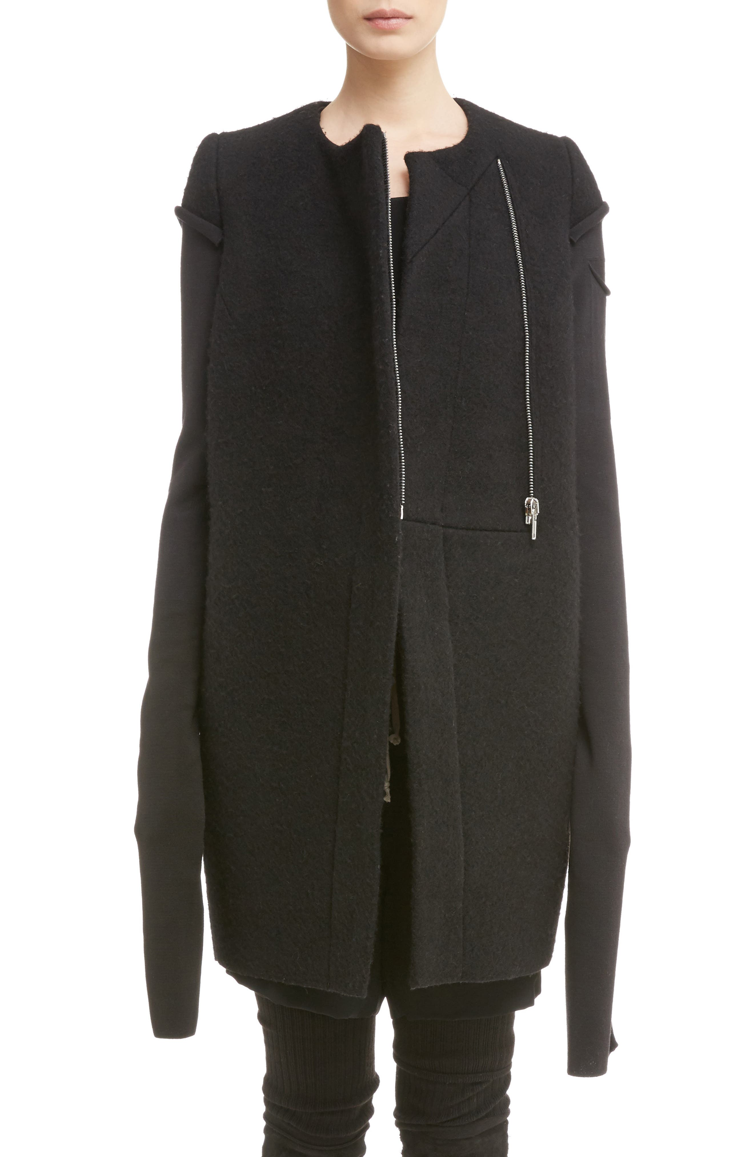 Rick Owens Double Face Boiled Wool Jacket