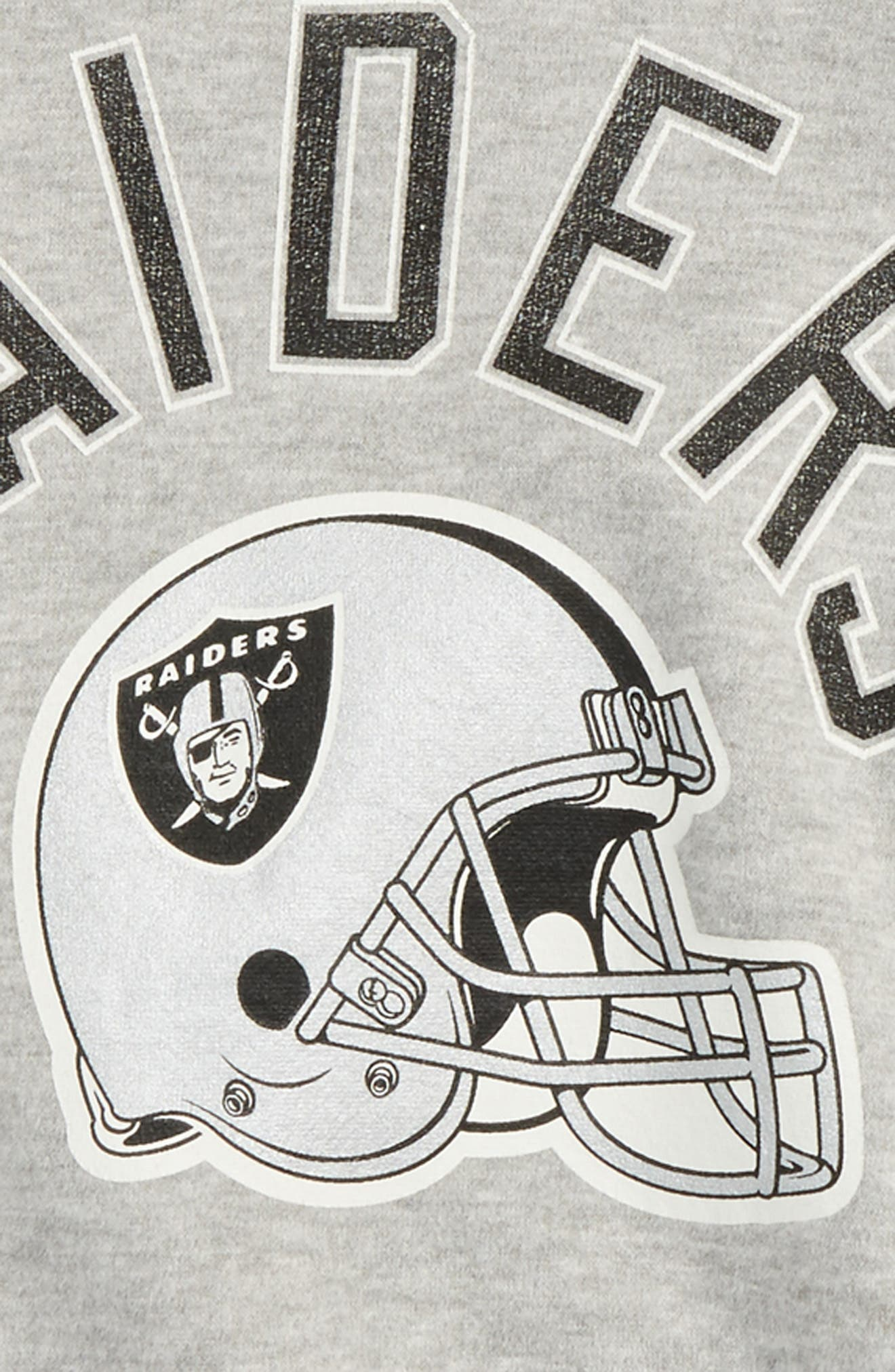 NFL Oakland Raiders Pullover Hoodie,                             Alternate thumbnail 2, color,                             Heather Grey