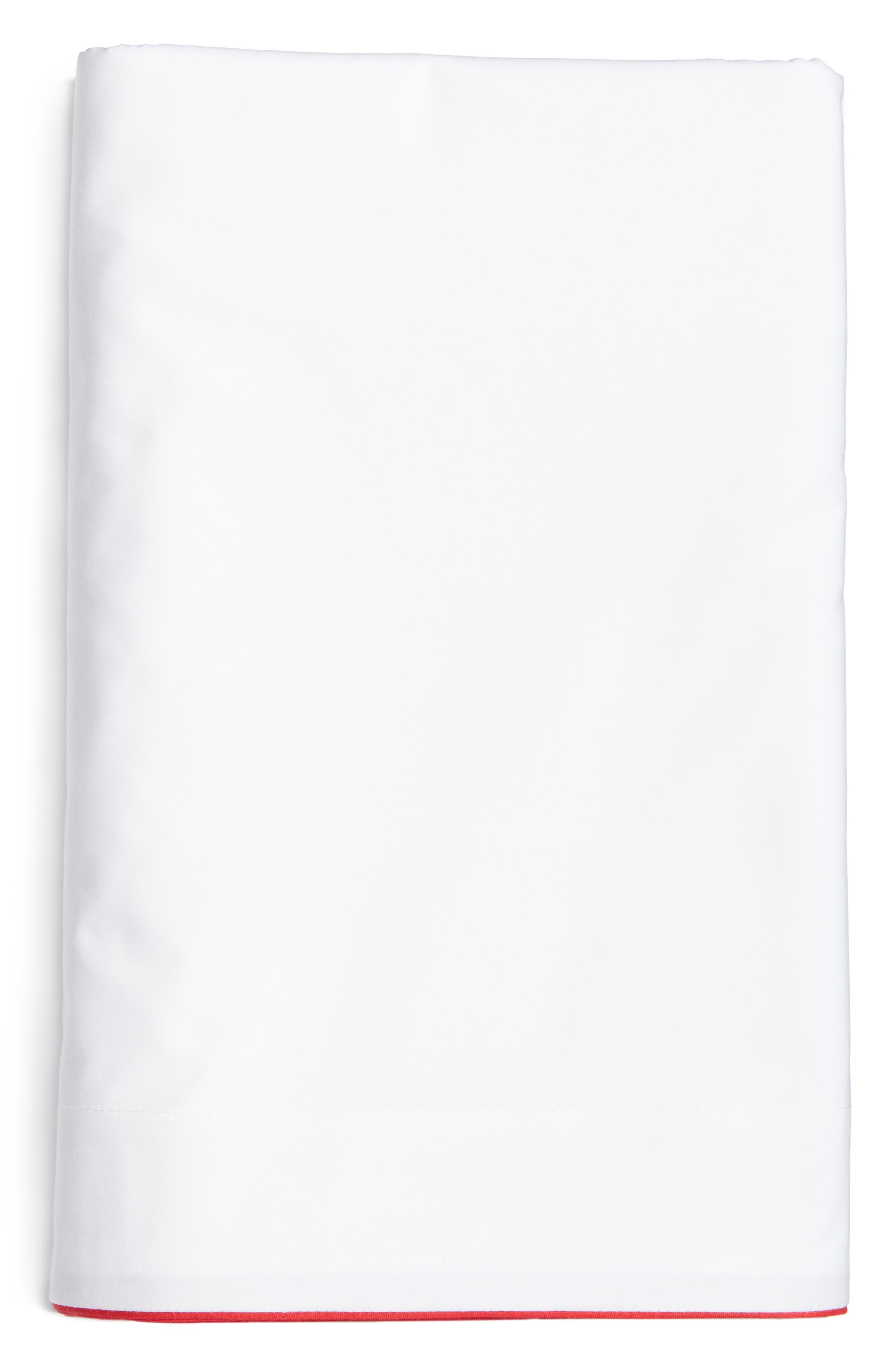 Series 1 500 Thread Count Flat Sheet,                         Main,                         color, Red