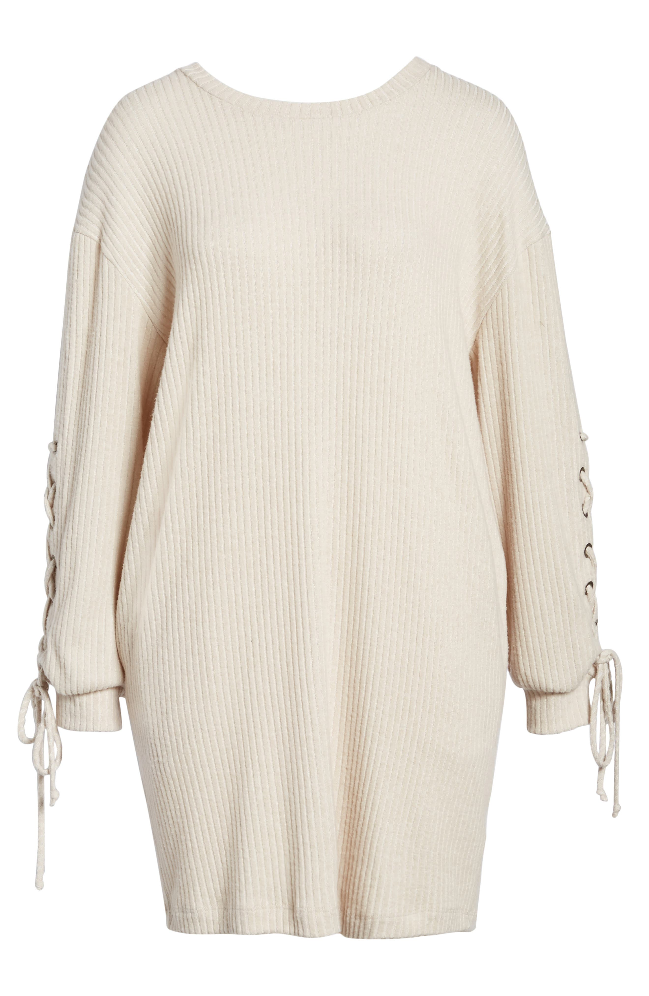 Alternate Image 6  - Lace-Up Sweater Dress