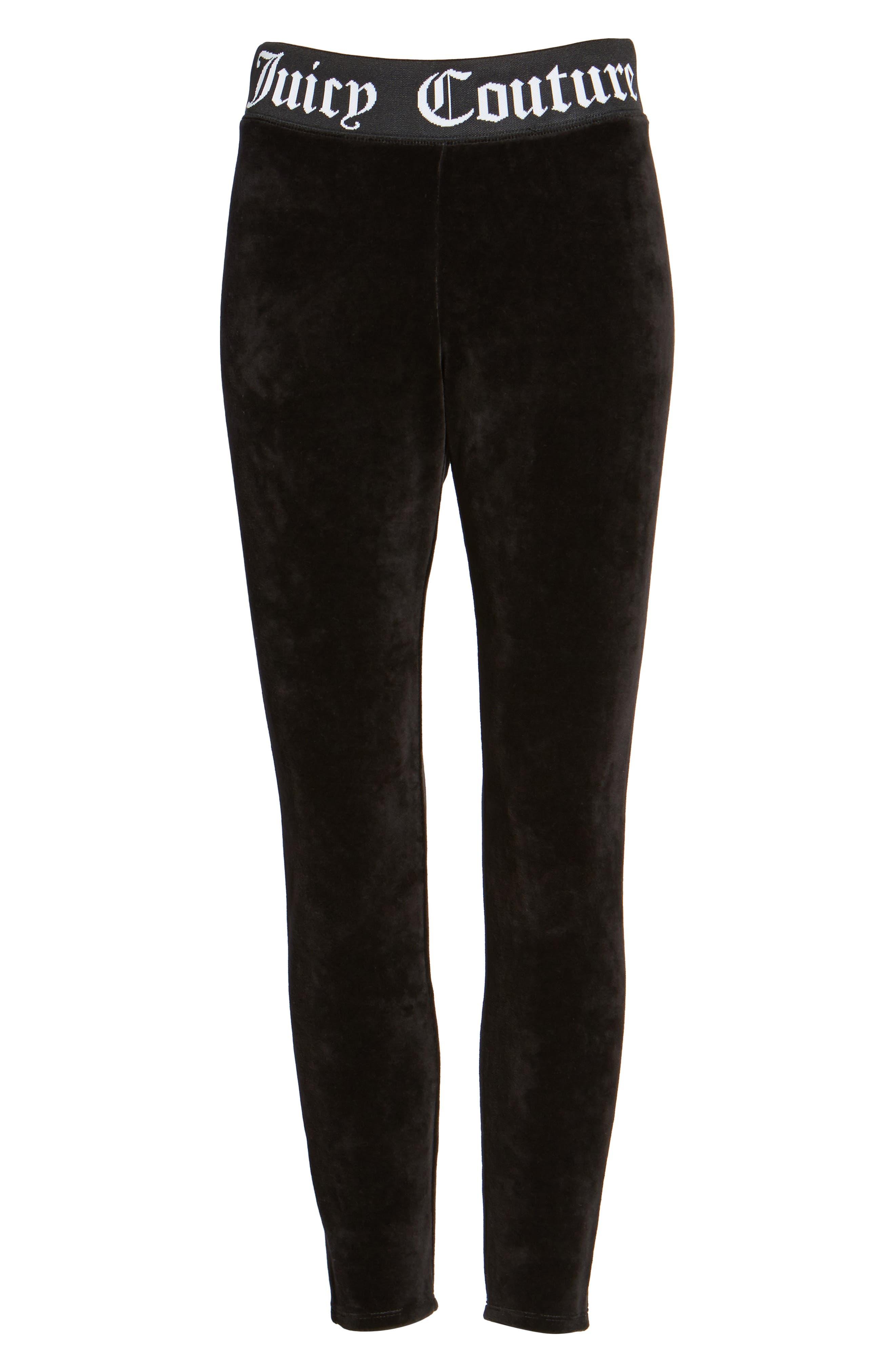 Alternate Image 6  - Juicy Couture Stretch Velour Leggings