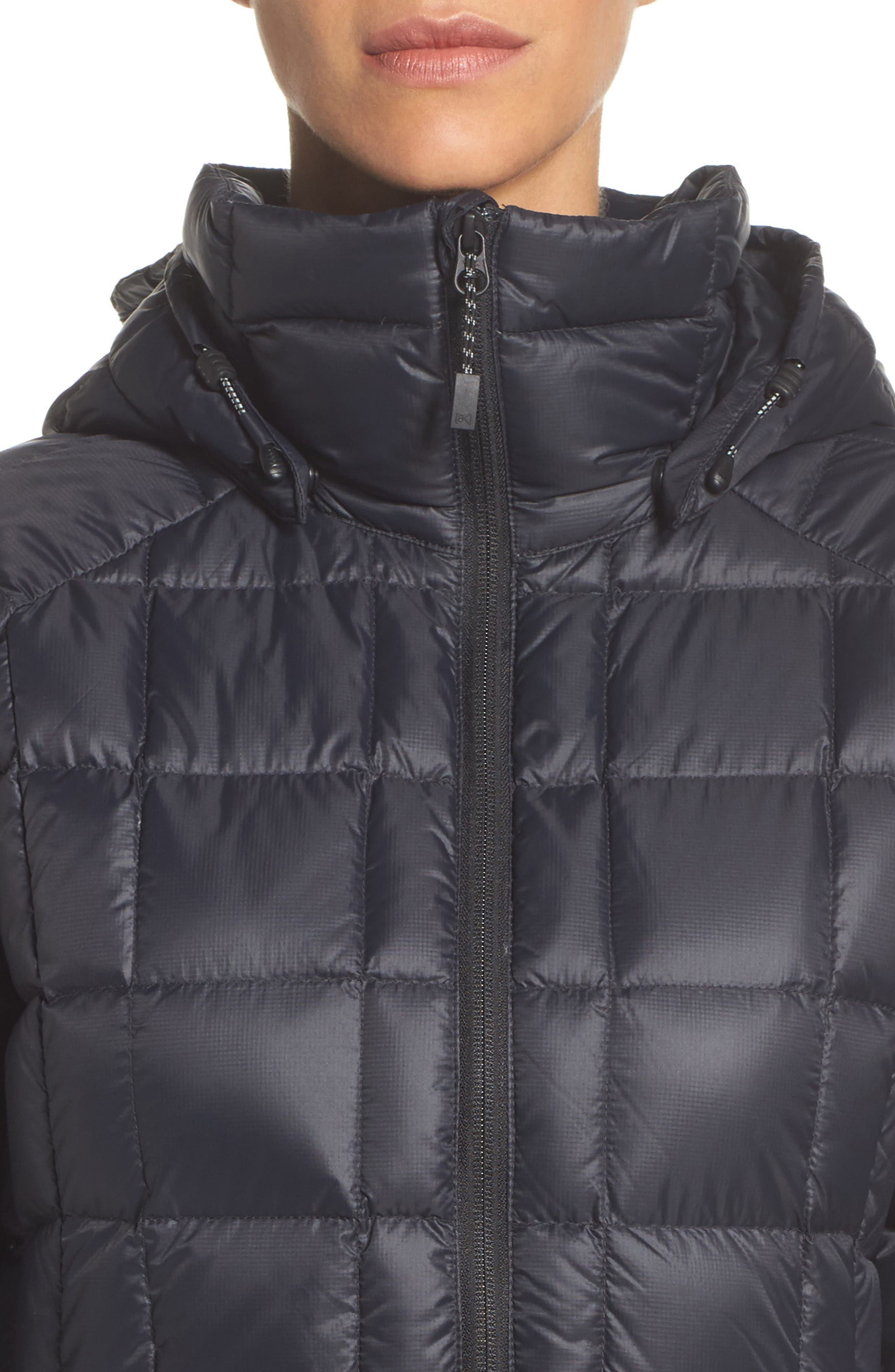 AK Baker Waterproof Quilted Down Insulator Jacket with Removable Hood,                             Alternate thumbnail 4, color,                             True Black
