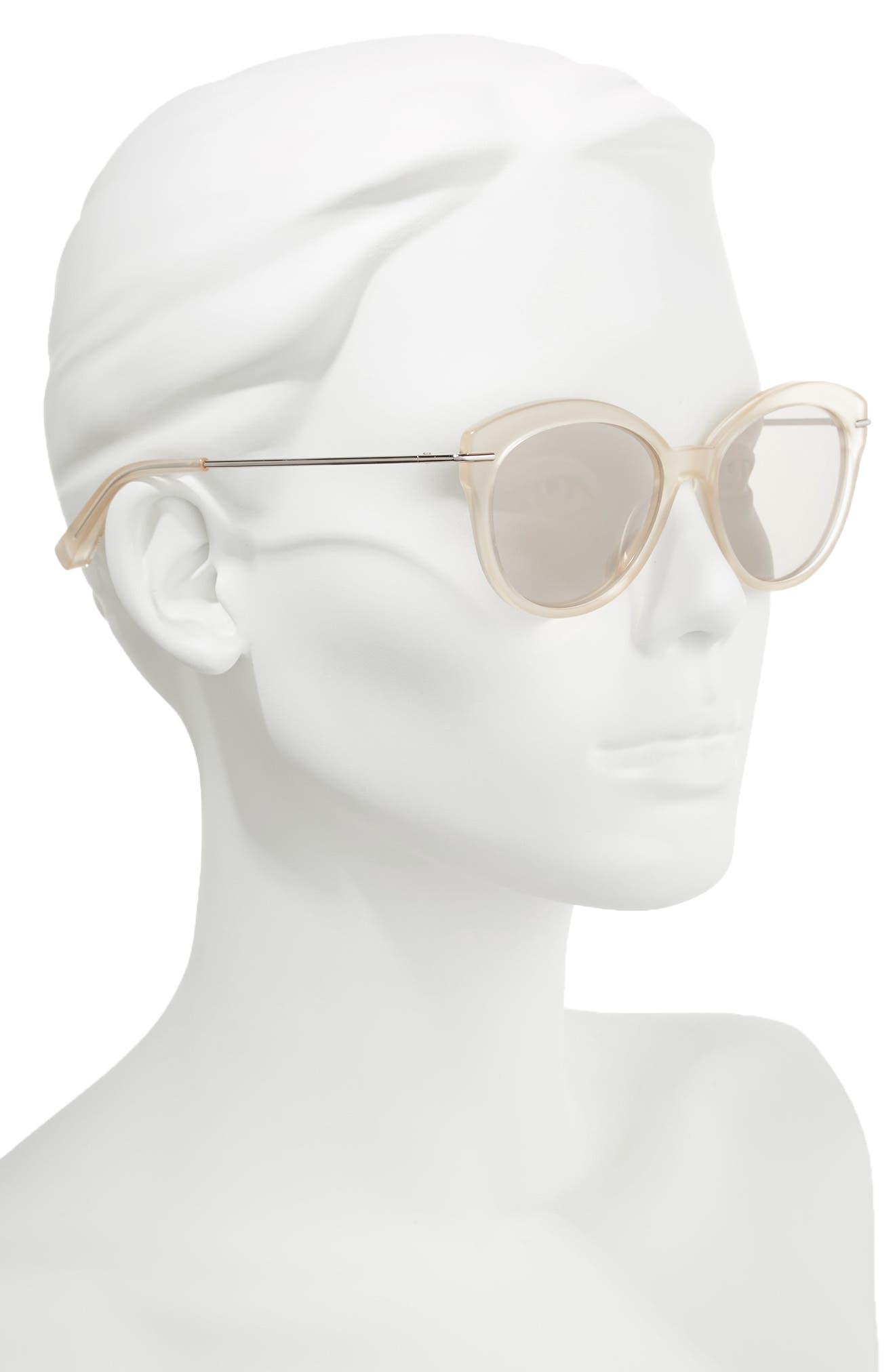 Wright 53mm Cat Eye Sunglasses,                             Alternate thumbnail 3, color,                             Lemon
