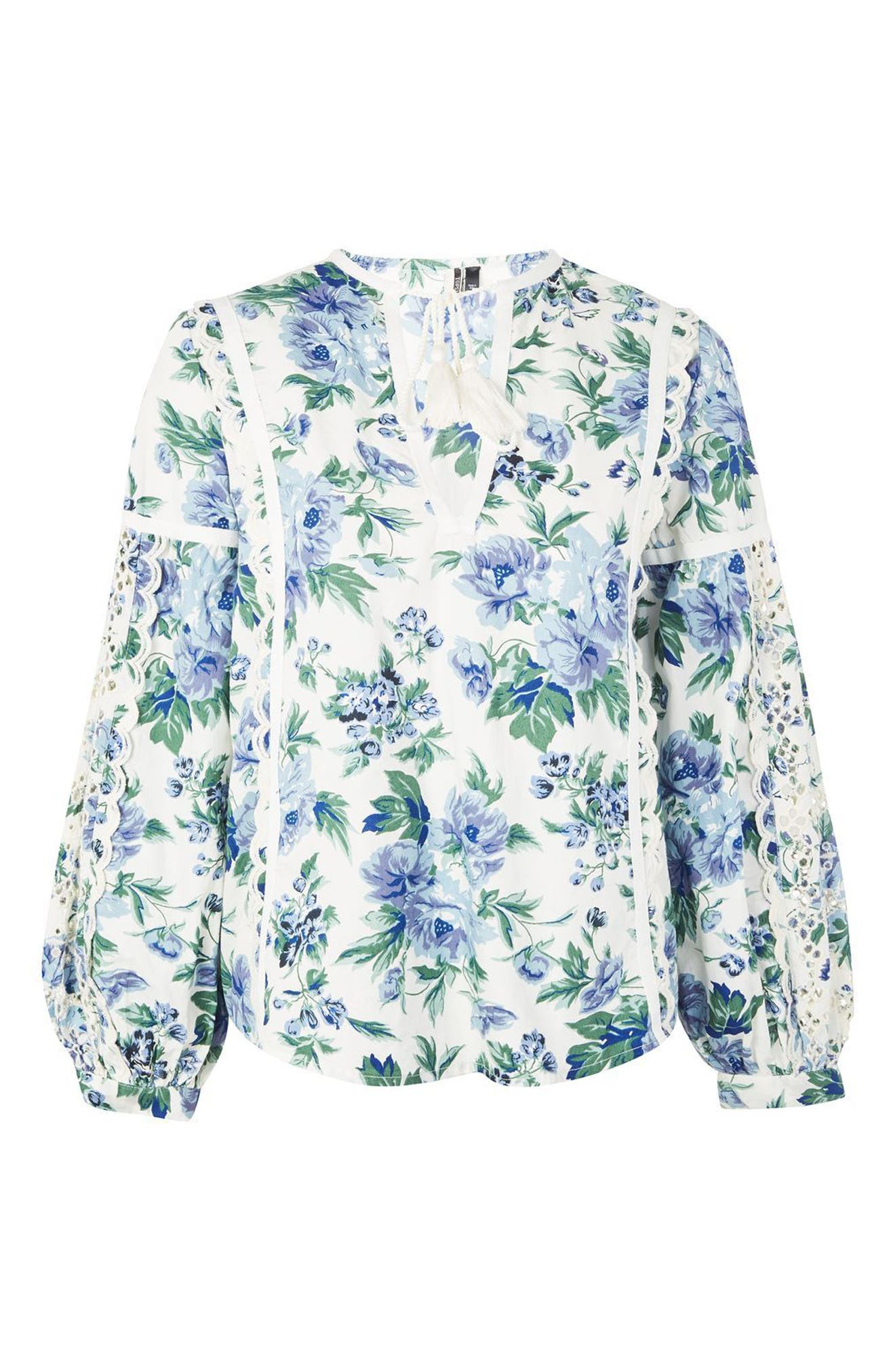 Alternate Image 5  - Topshop Balloon Sleeve Peasant Blouse