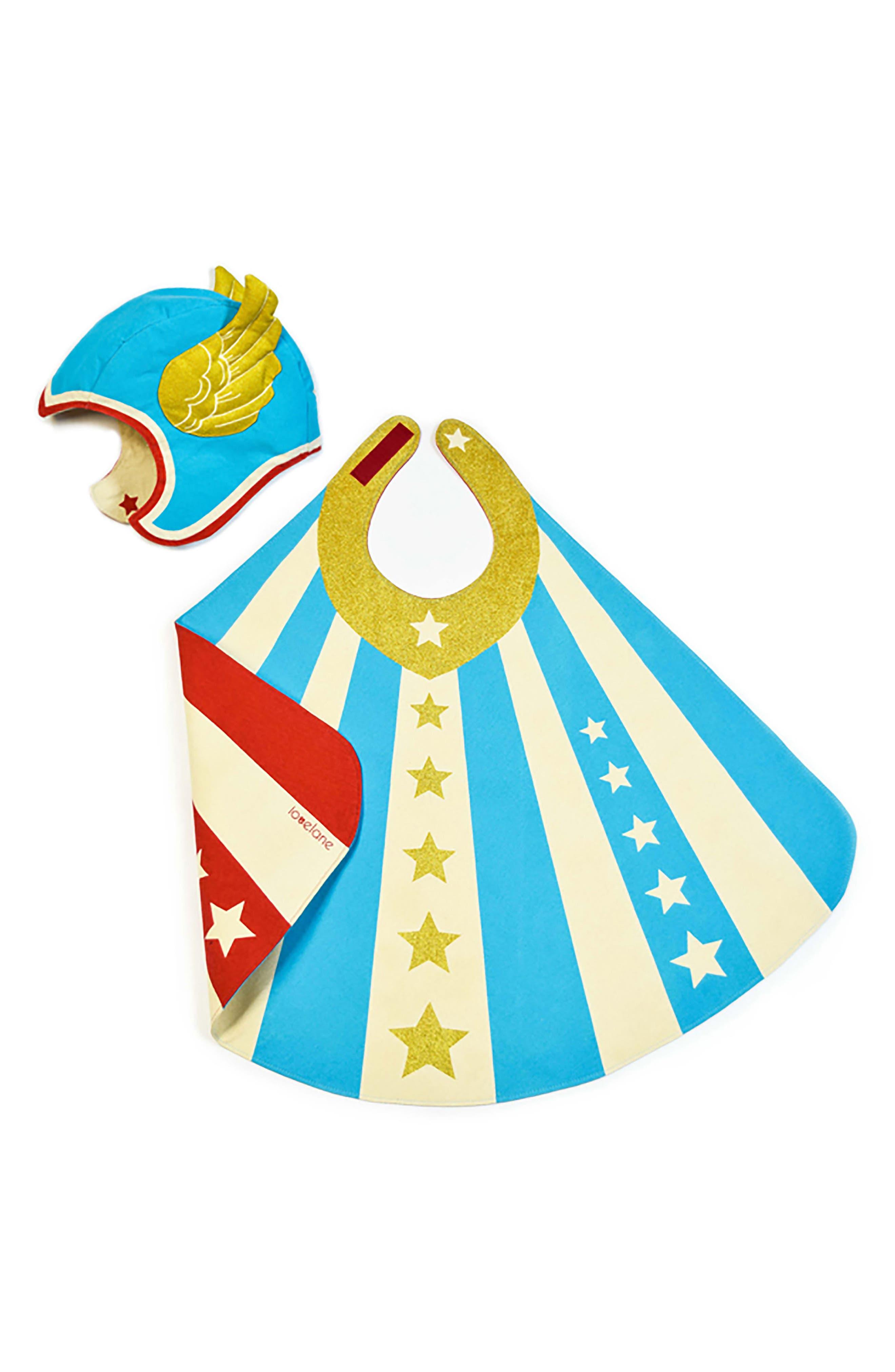 Lovelane Superhero Hat & Cape Costume Set (Toddler)
