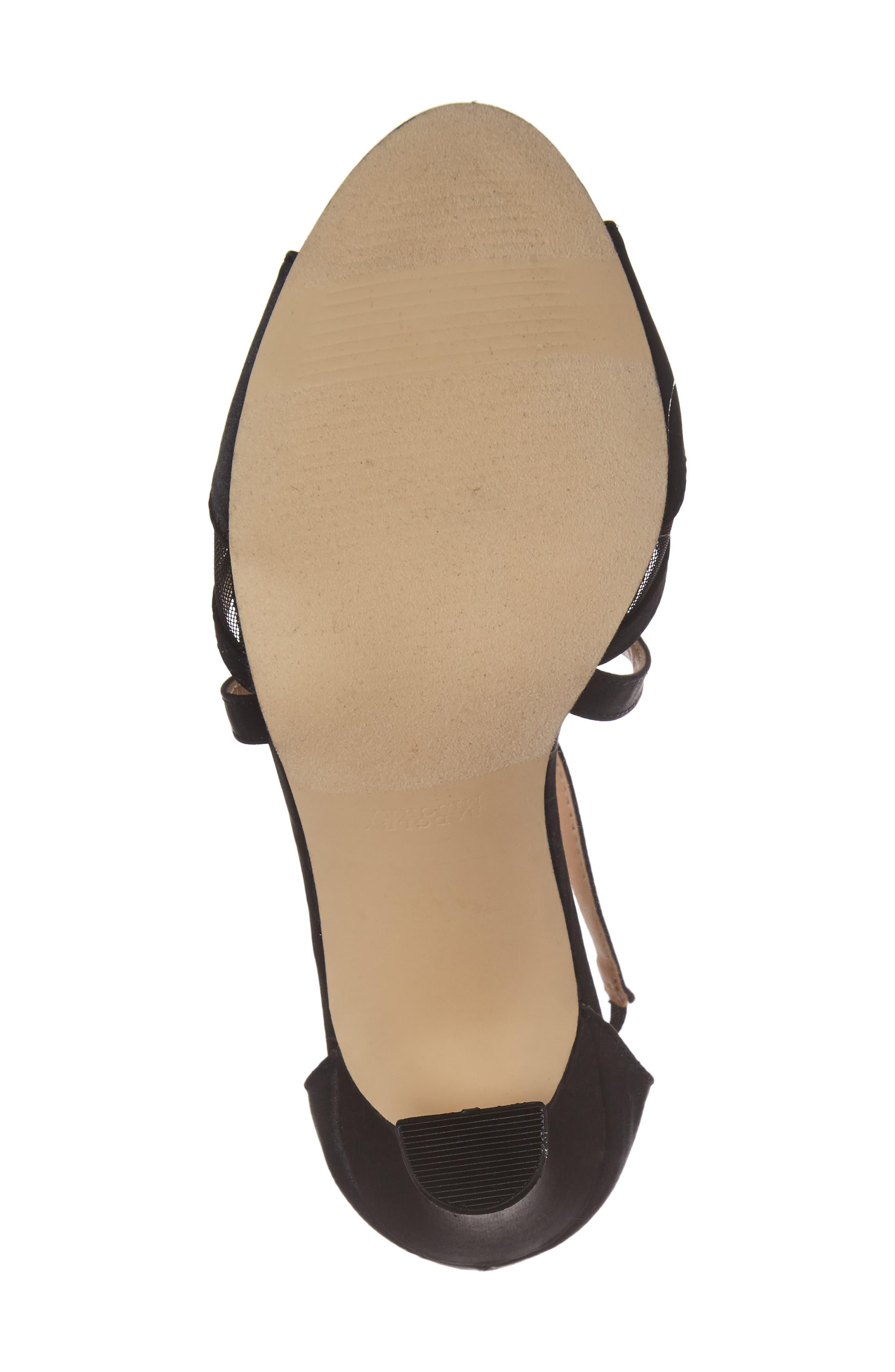 Kandall Hannah Embellished Cross Strap Sandal,                             Alternate thumbnail 6, color,                             Black Satin