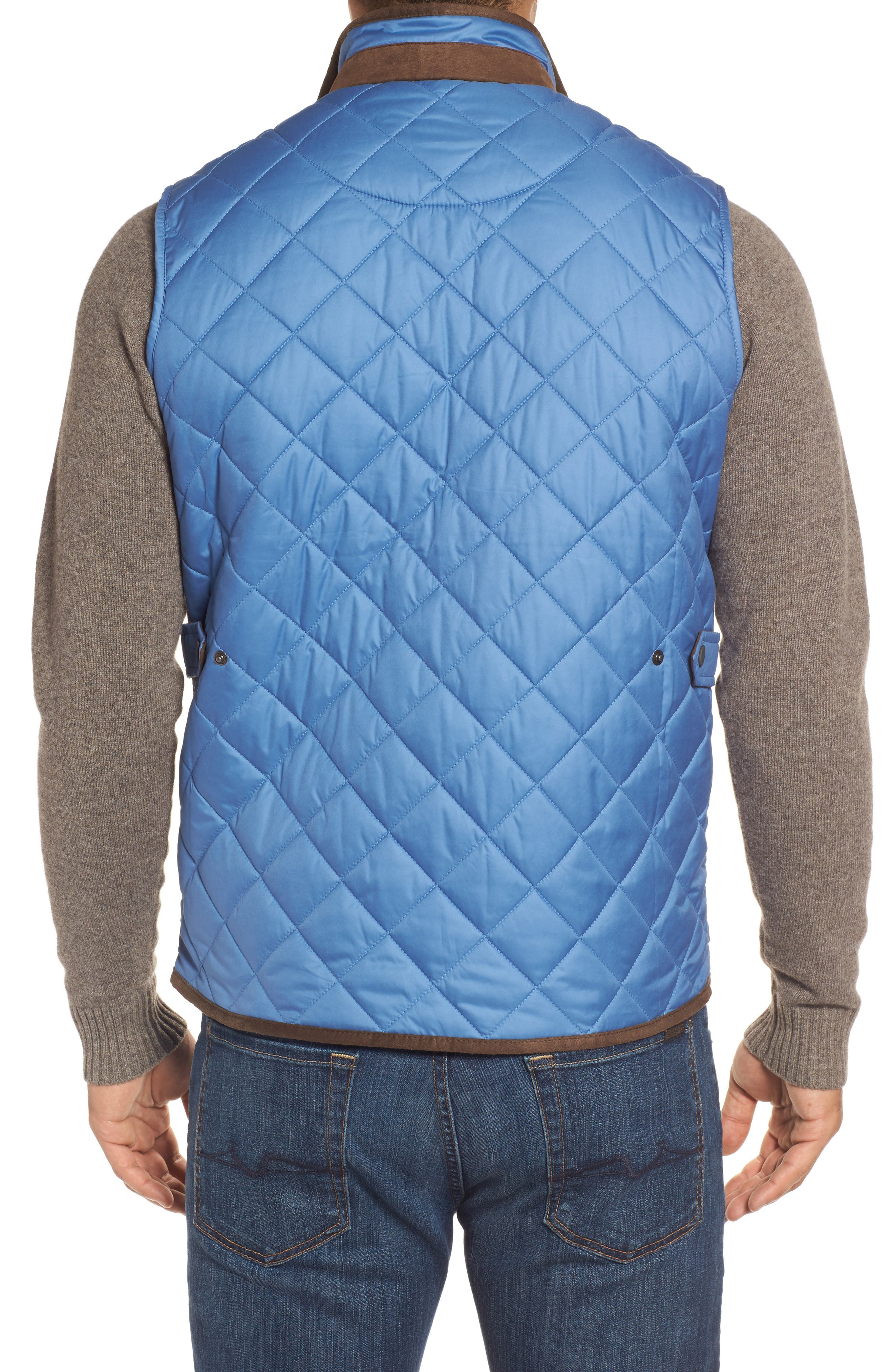 Essex Quilted Vest,                             Alternate thumbnail 2, color,                             Moon Blue