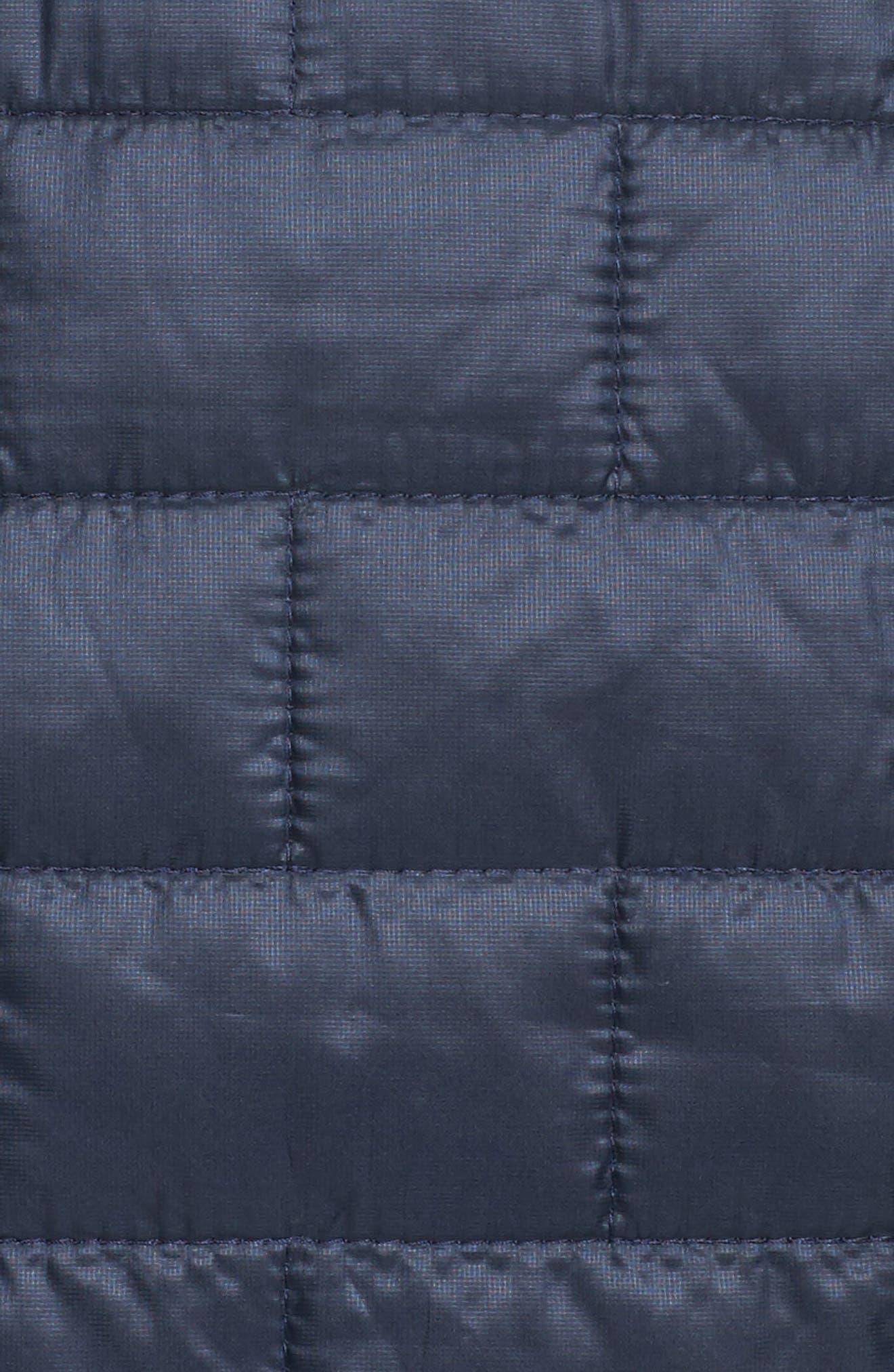 Nano Puff<sup>®</sup> Bivy Water Resistant Jacket,                             Alternate thumbnail 6, color,                             Navy Blue W/ Strait Blue