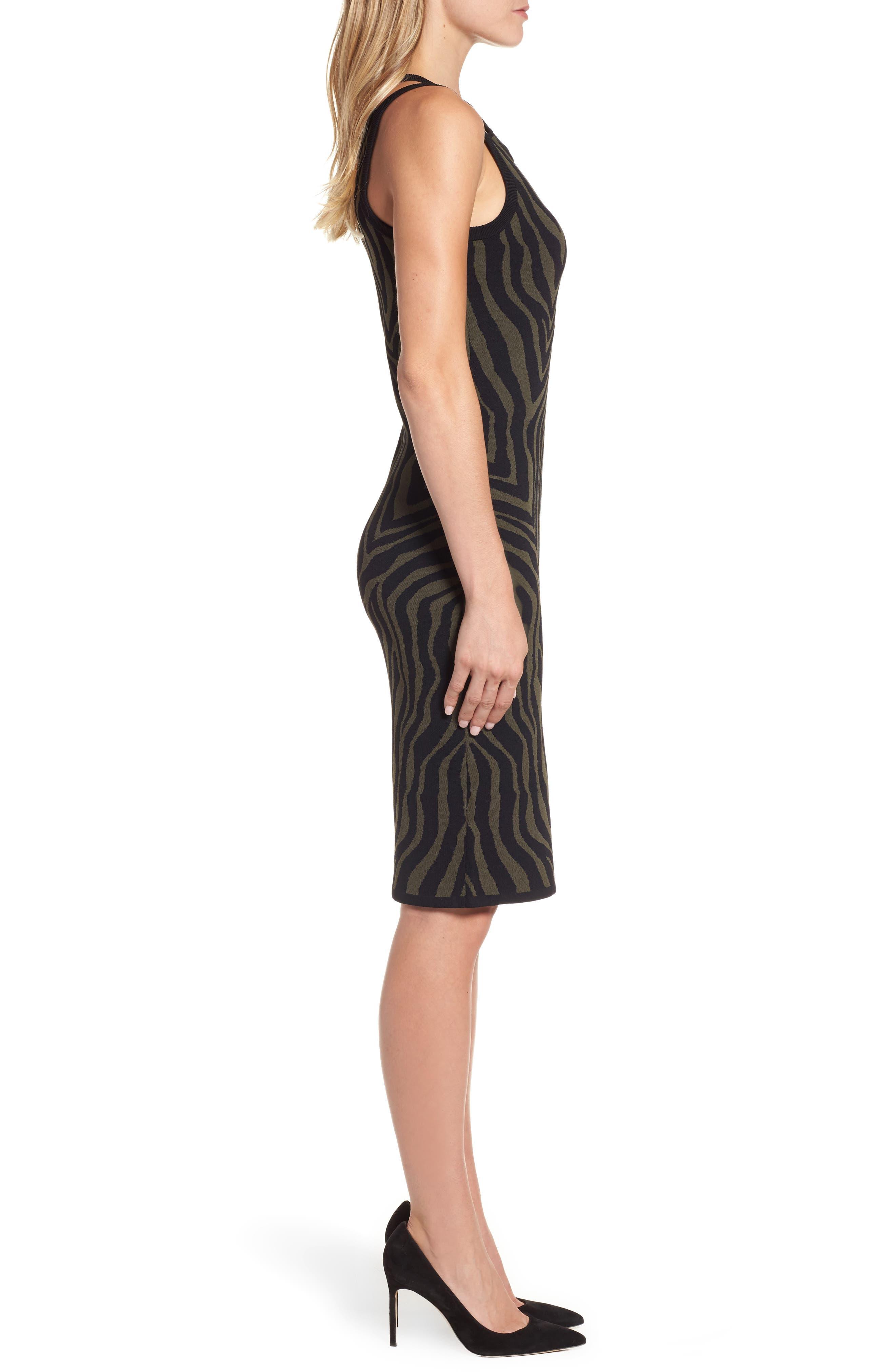 Double Trim Tank Dress,                             Alternate thumbnail 3, color,                             Ivy