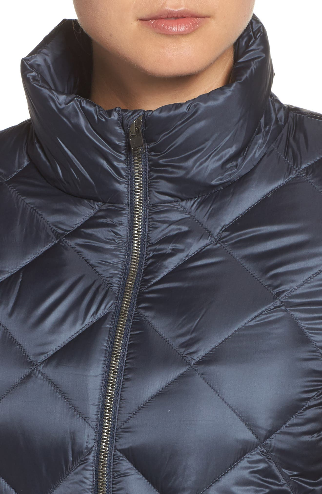 Prow Down Bomber Jacket,                             Alternate thumbnail 4, color,                             Smolder Blue