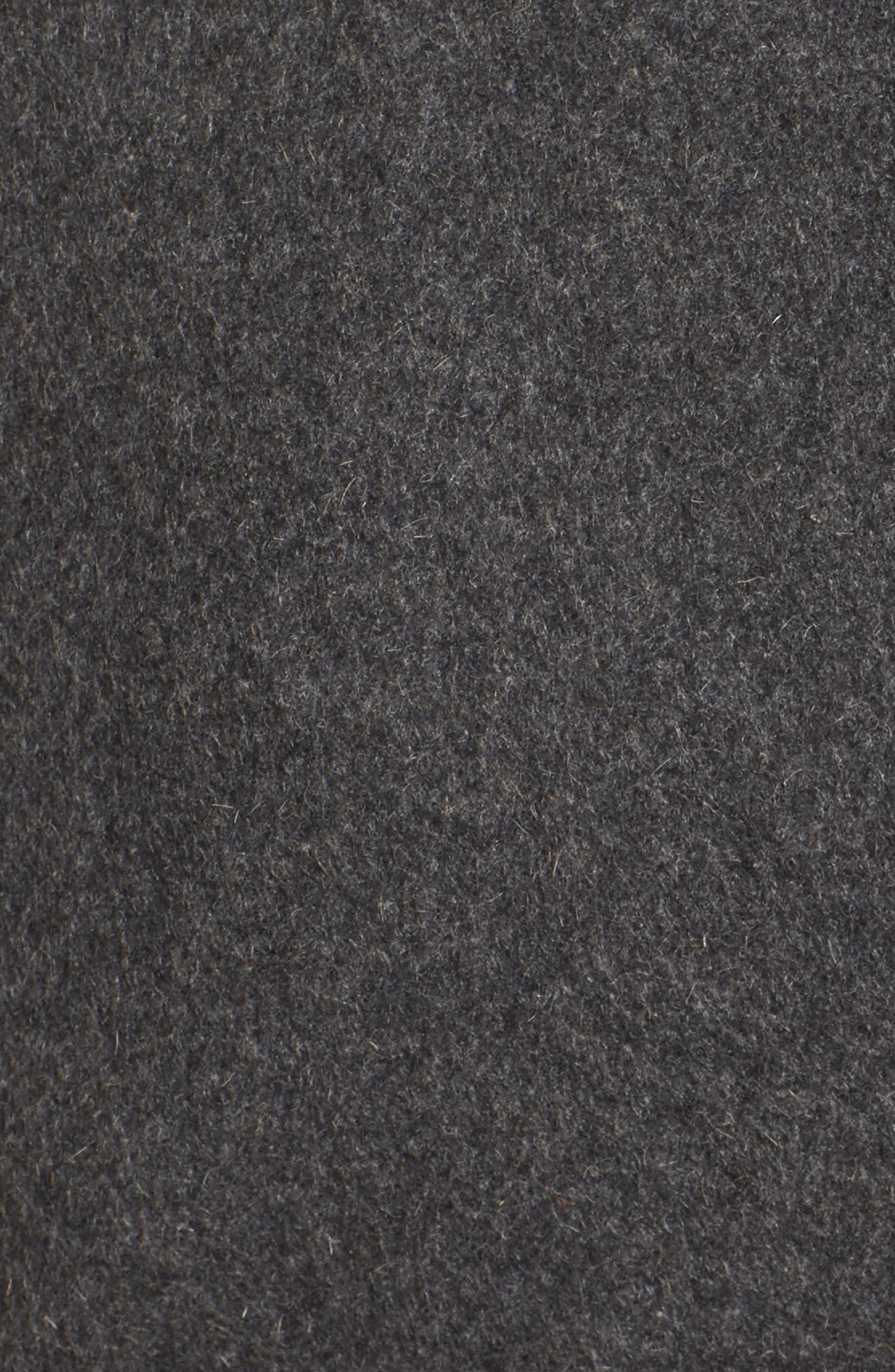 Brooklyn Colorblock Coat,                             Alternate thumbnail 5, color,                             Grey/ Black