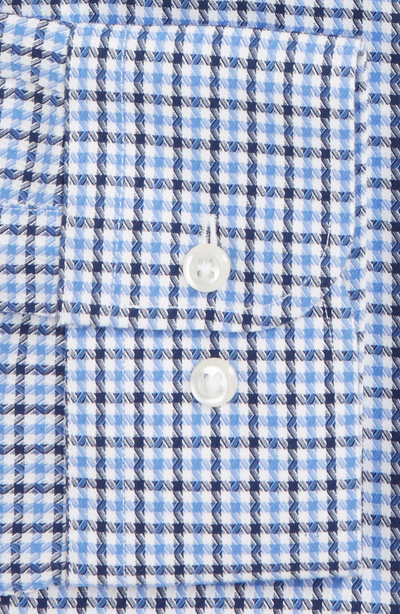 Smartcare<sup>™</sup> Traditional Fit Check Dress Shirt,                             Alternate thumbnail 2, color,                             Navy Evening