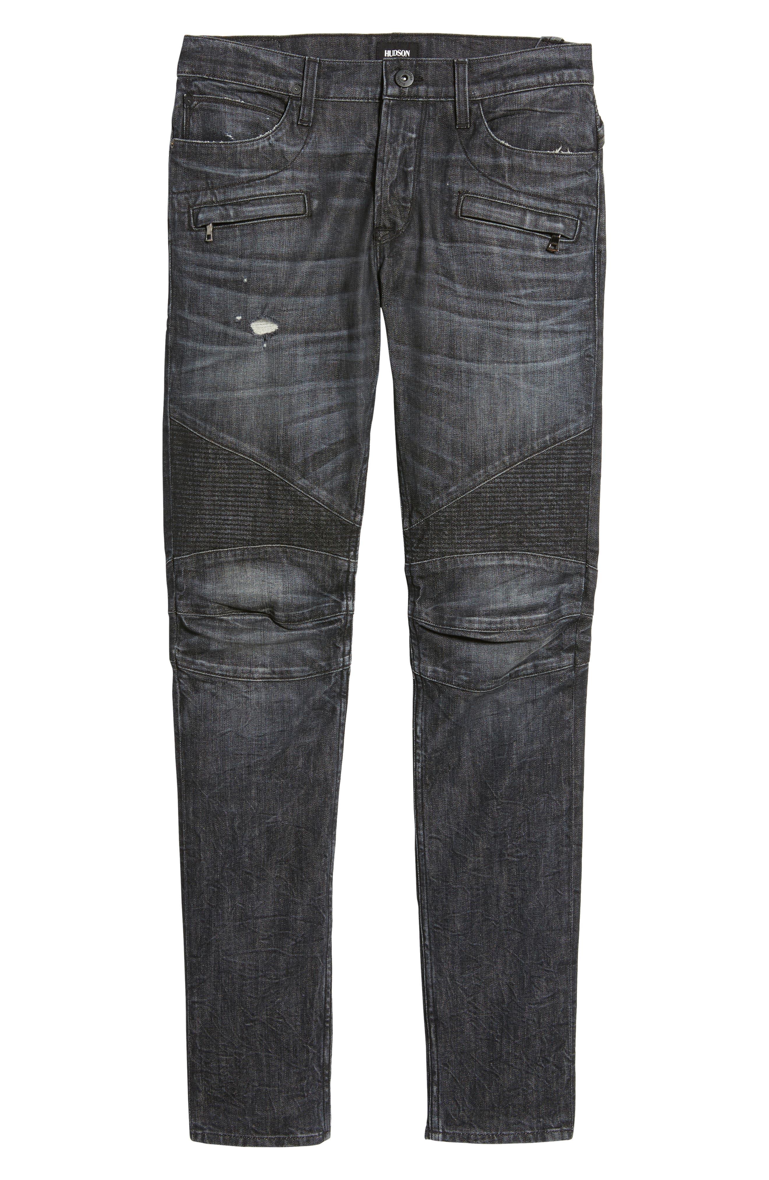 Alternate Image 6  - Hudson Jeans Blinder Biker Moto Skinny Fit Jeans (Damage)