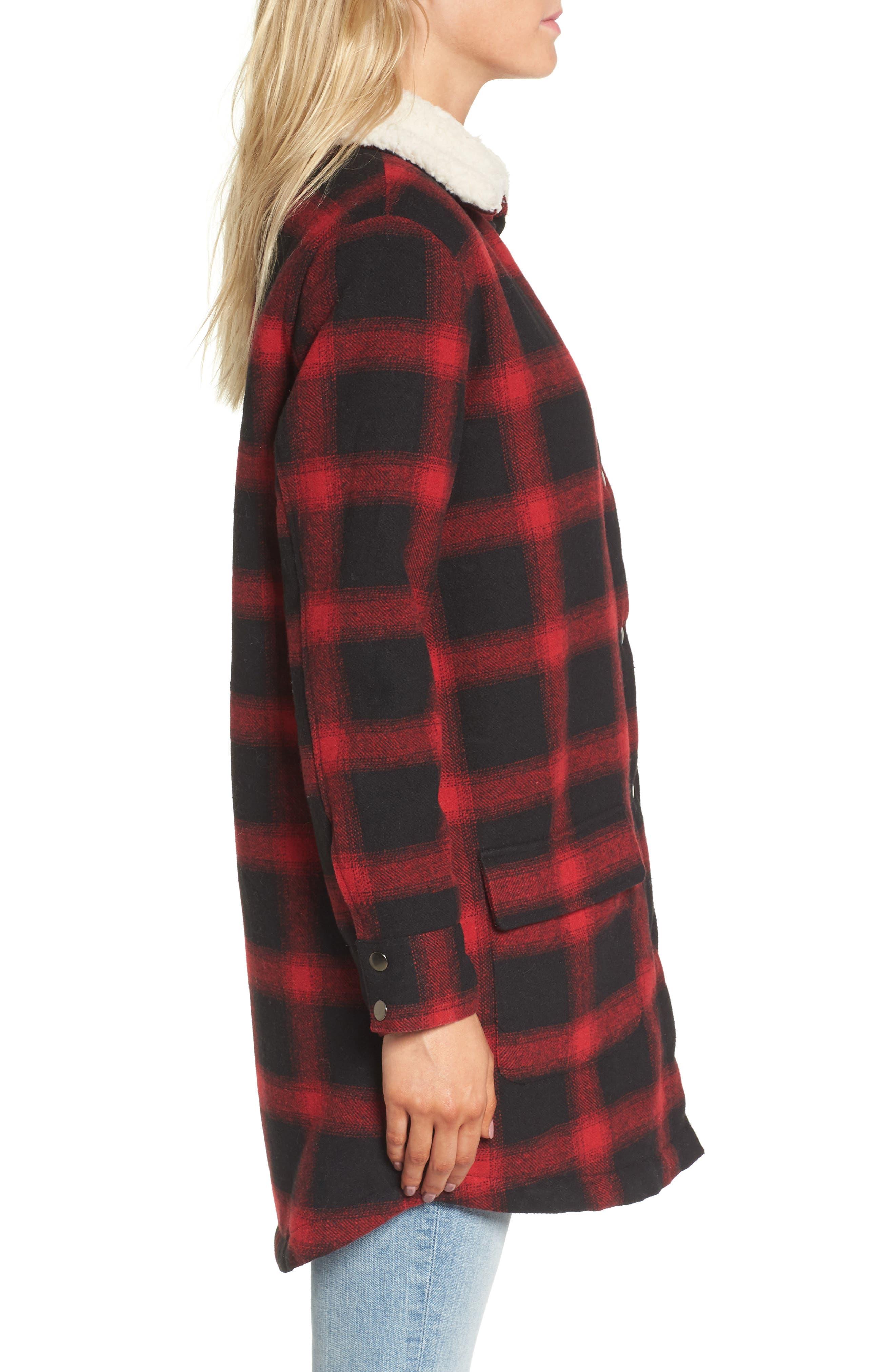 Alternate Image 3  - BB Dakota Bradley Fleece Lined Plaid Coat