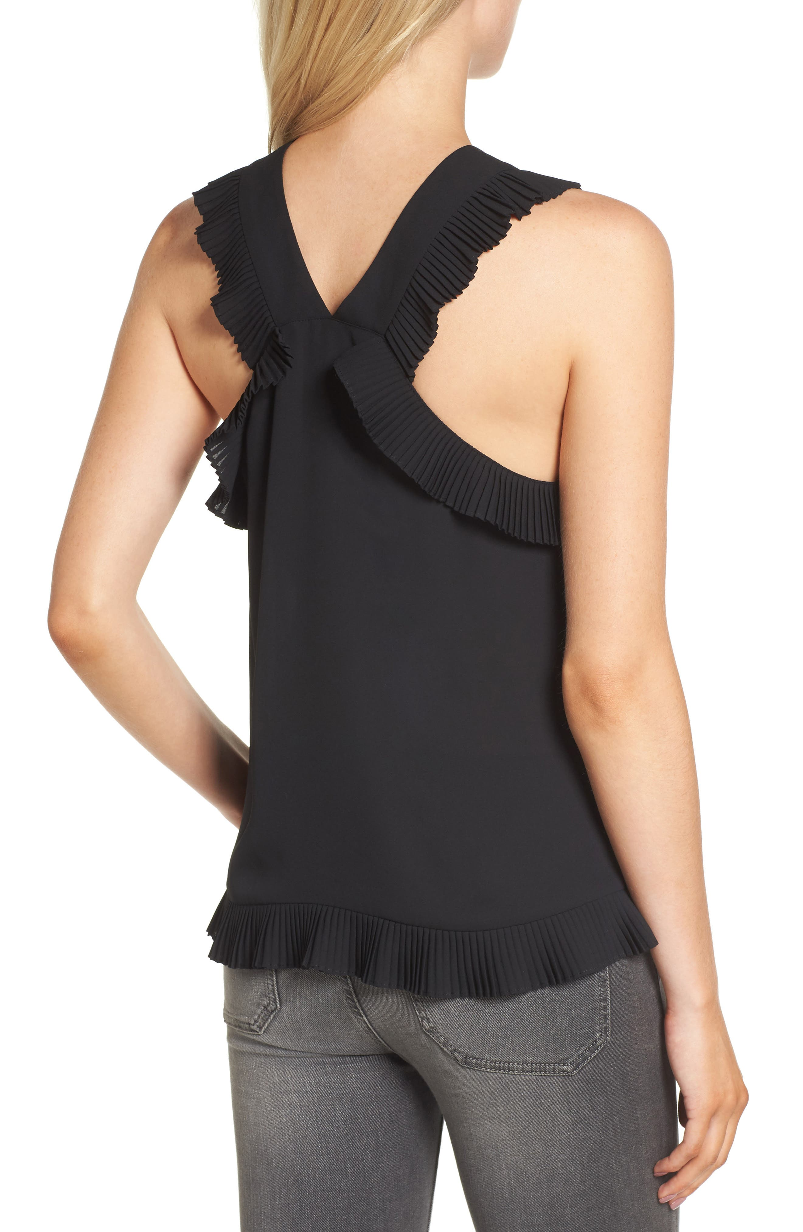Alternate Image 2  - Trouvé Pleated Ruffle Tank