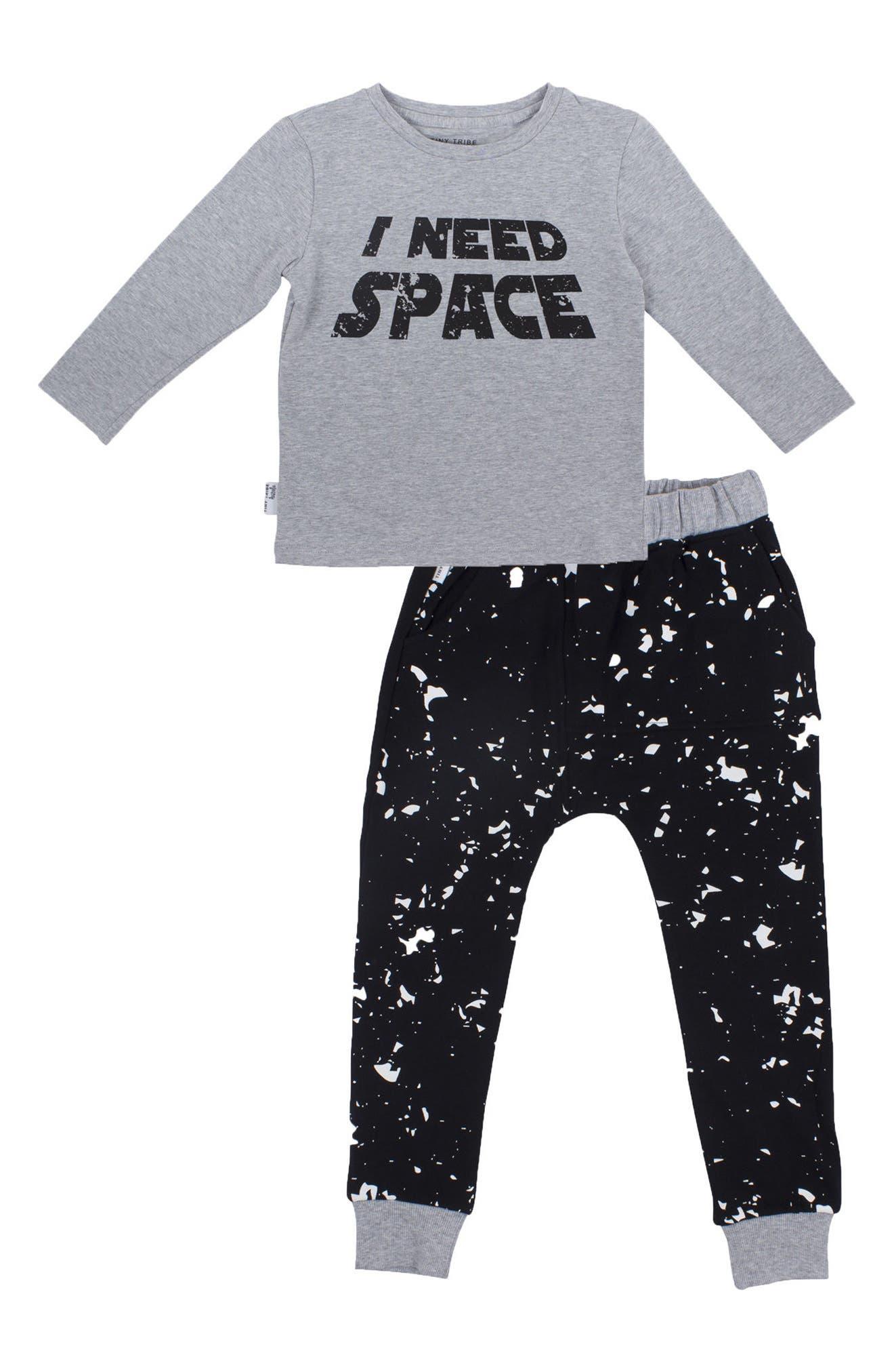 Tiny Tribe I Need Space T-Shirt & Sweatpants Set (Baby & Toddler)