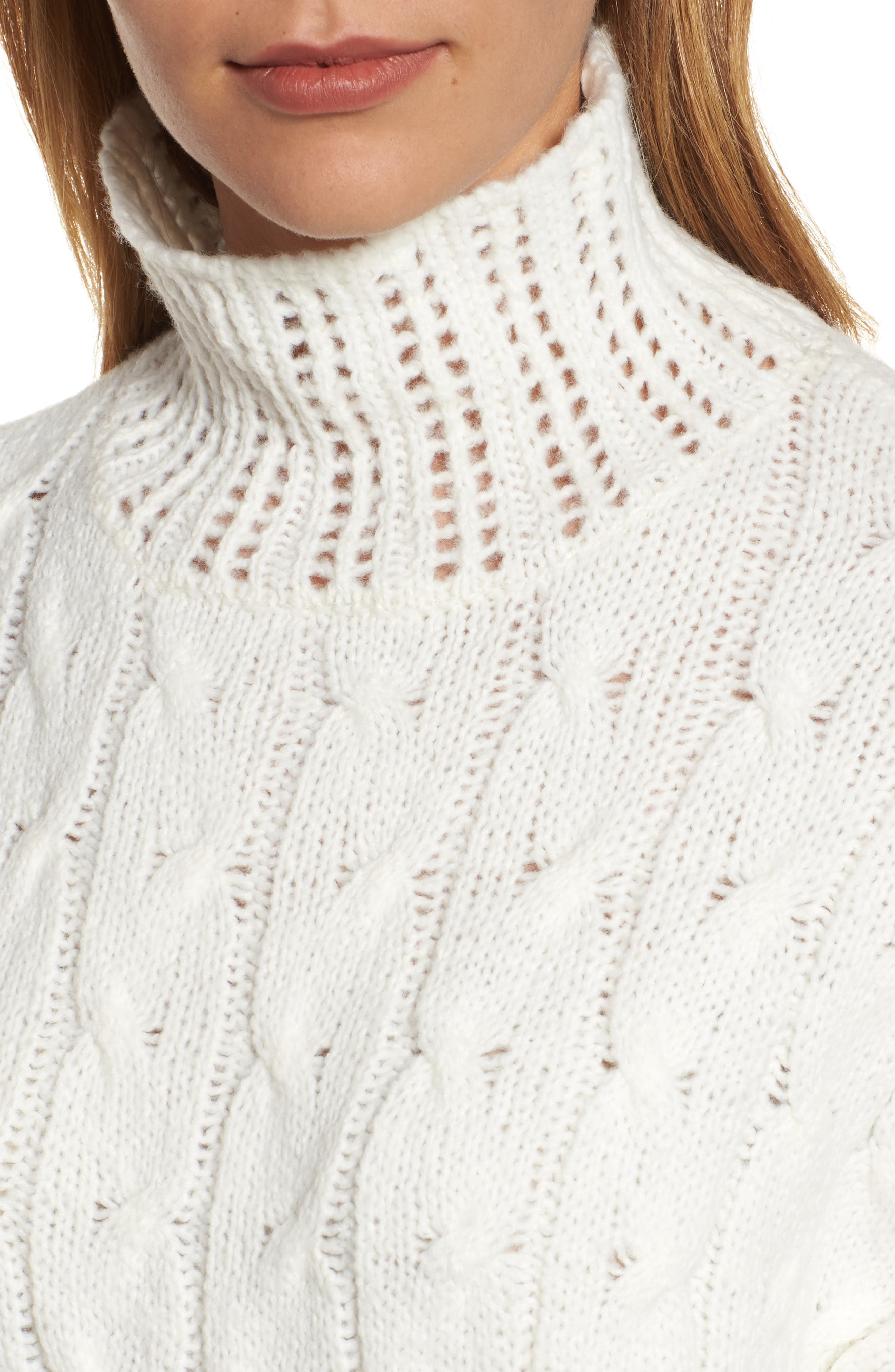 Alternate Image 4  - Press Pointelle Turtleneck Sweater