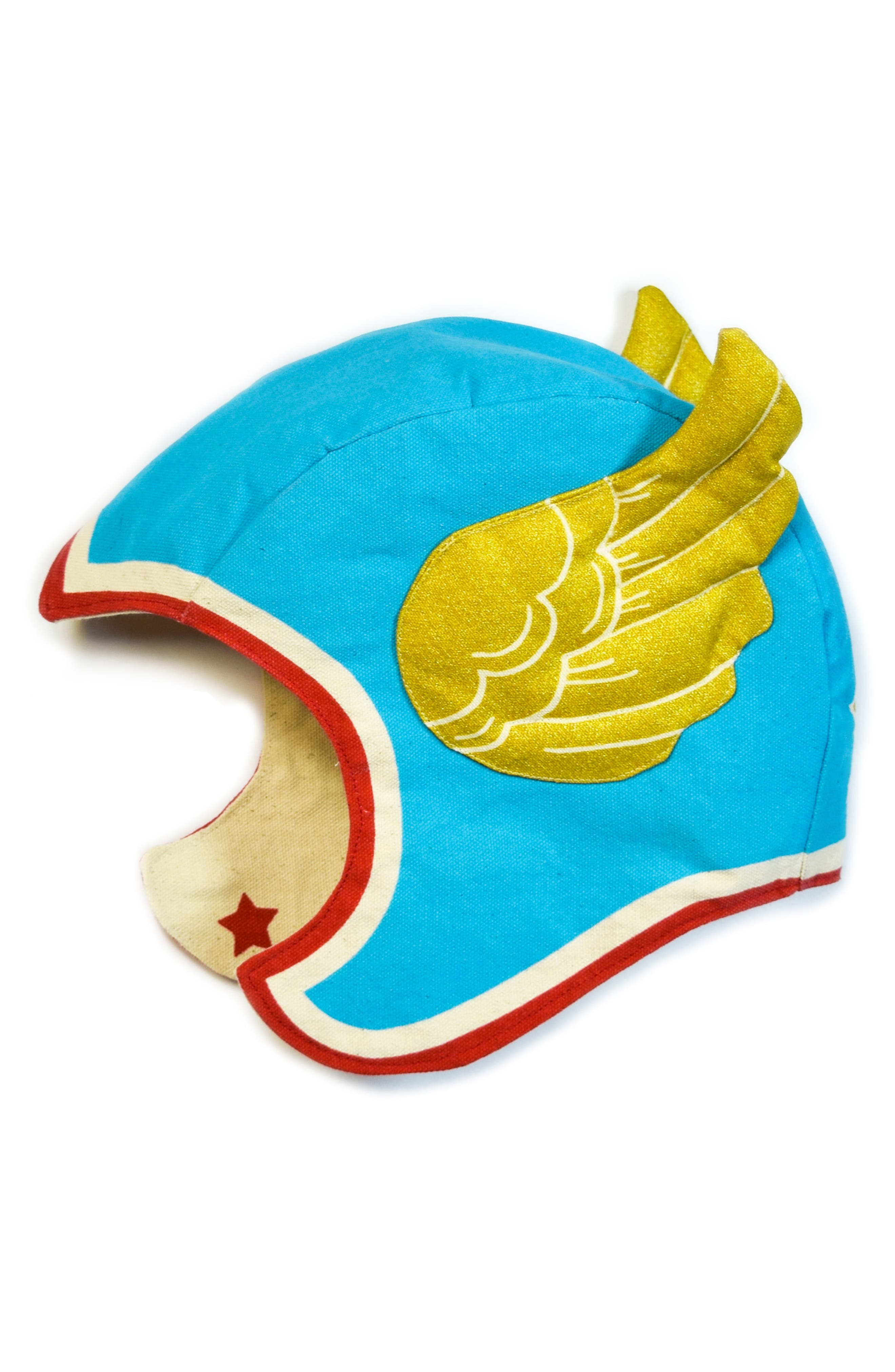 Winged Hat,                         Main,                         color, Blue