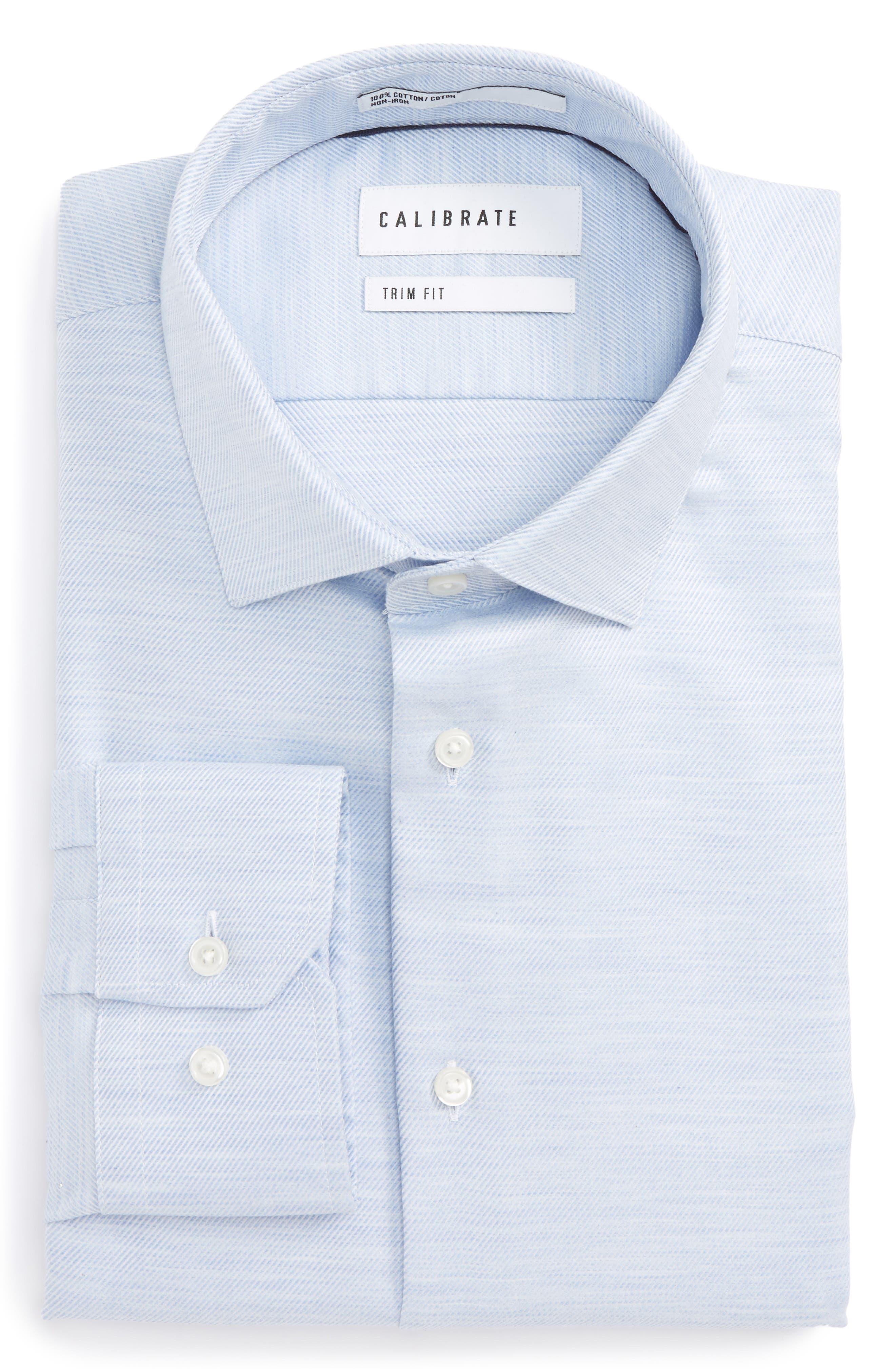 Main Image - Calibrate Trim Fit Twill Dress Shirt
