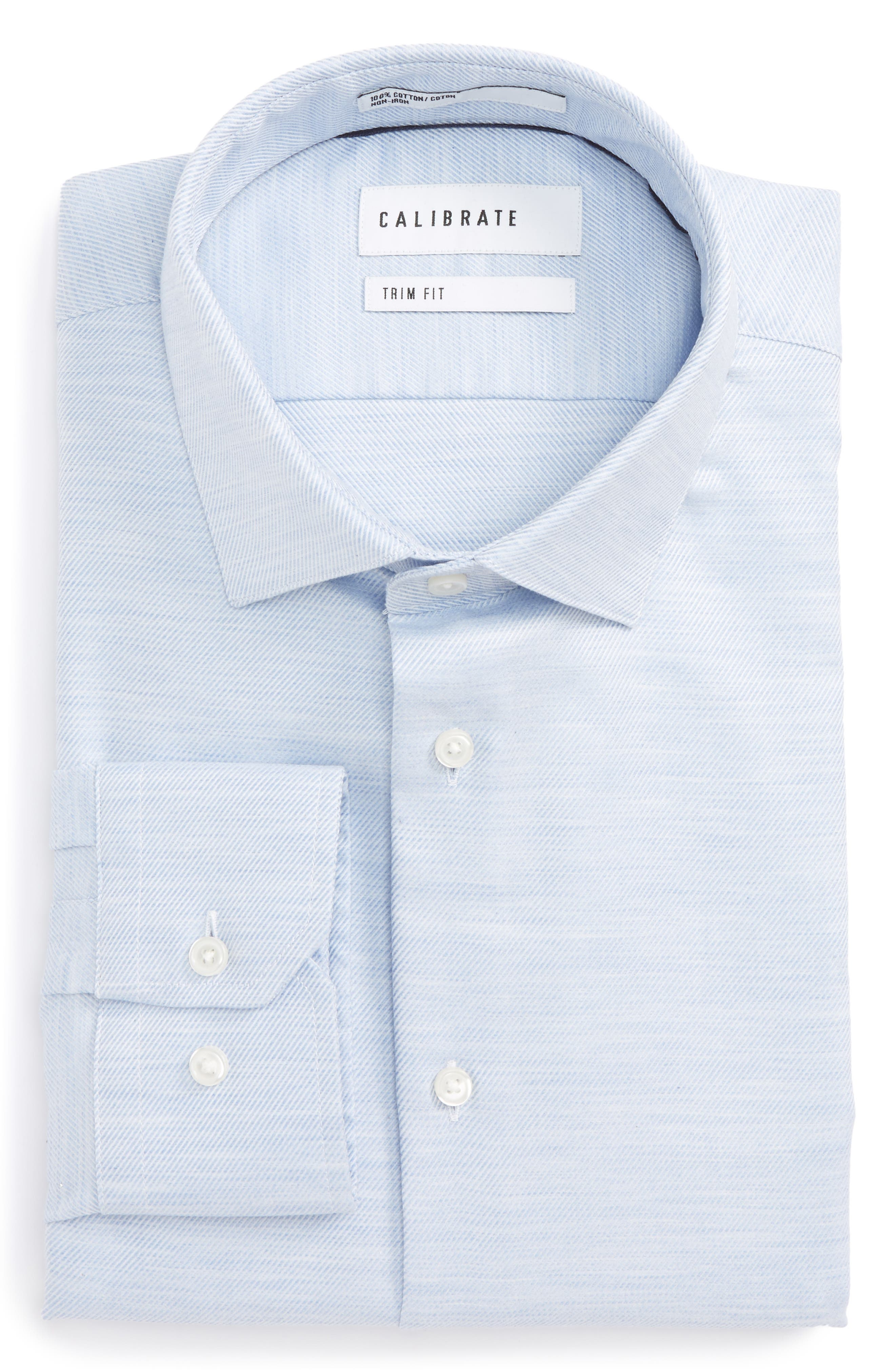 Calibrate Trim Fit Twill Dress Shirt