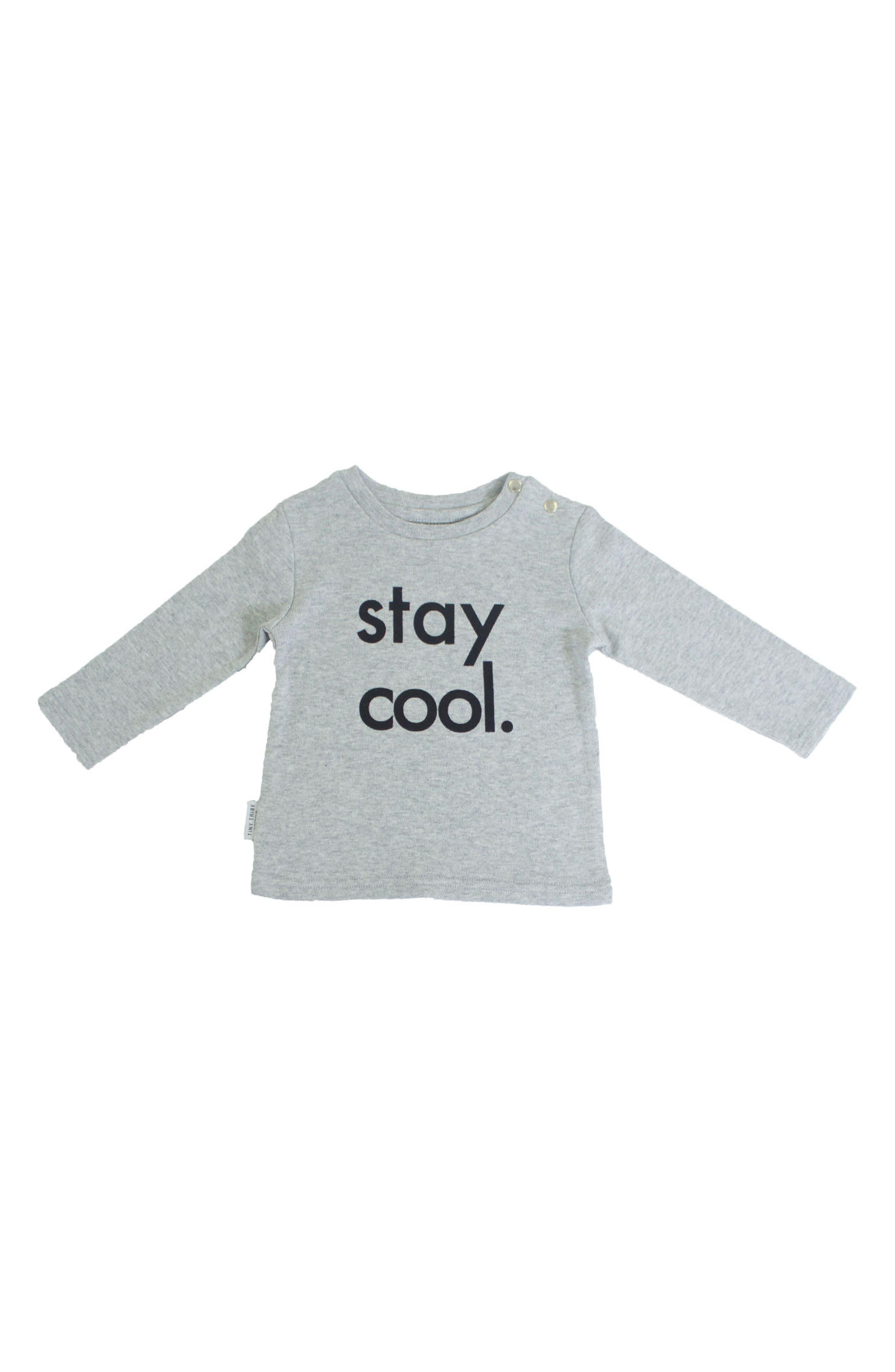 Alternate Image 2  - Tiny Tribe Stay Cool T-Shirt & Leggings Set (Baby & Toddler)