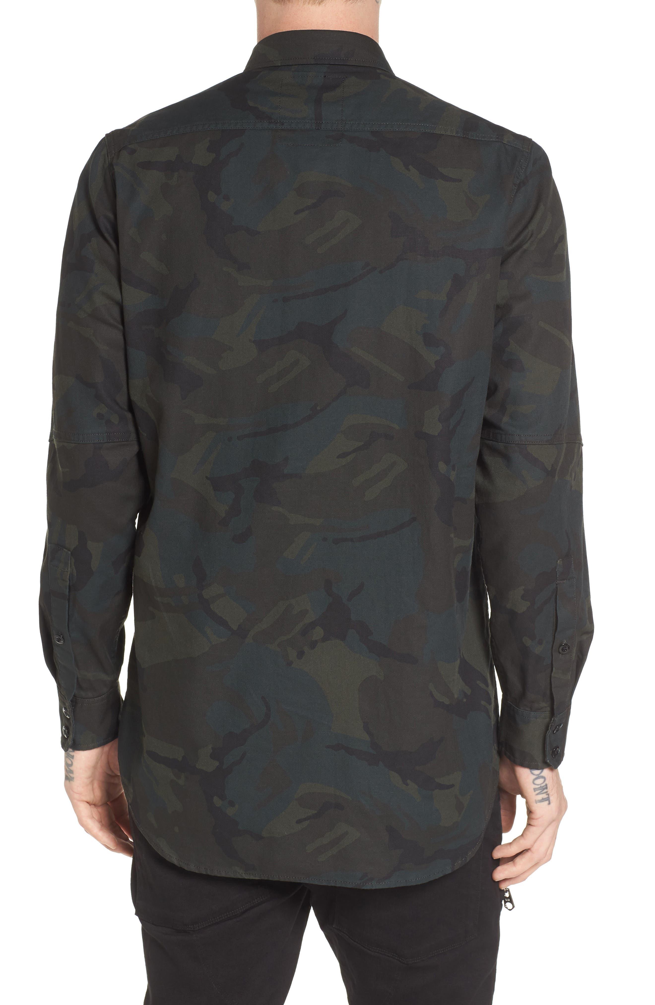 Stalt Long Sleeve Denim Shirt,                             Alternate thumbnail 2, color,                             Asphalt/ Black
