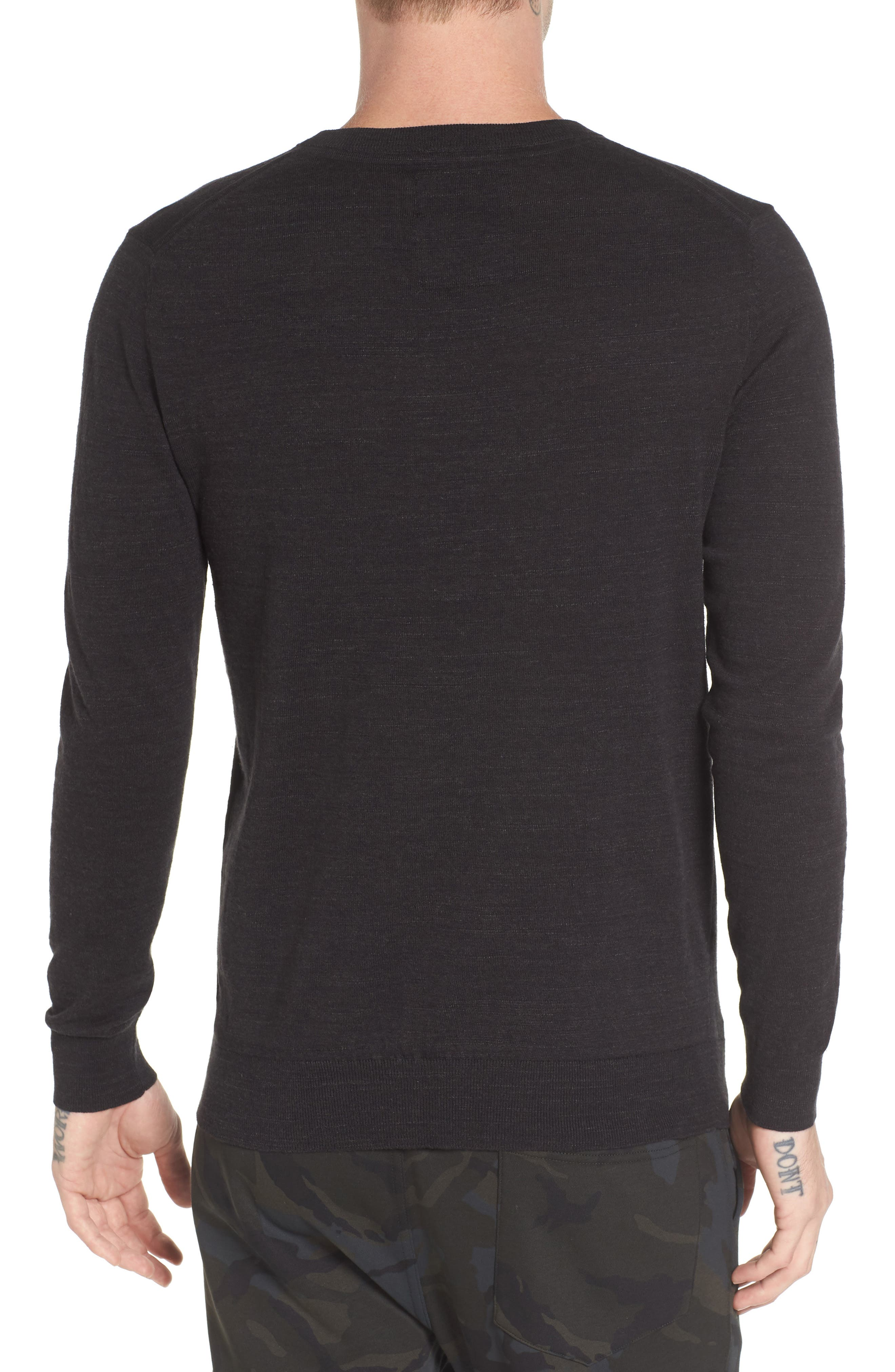 Core Sweater,                             Alternate thumbnail 2, color,                             Dark Black Heather