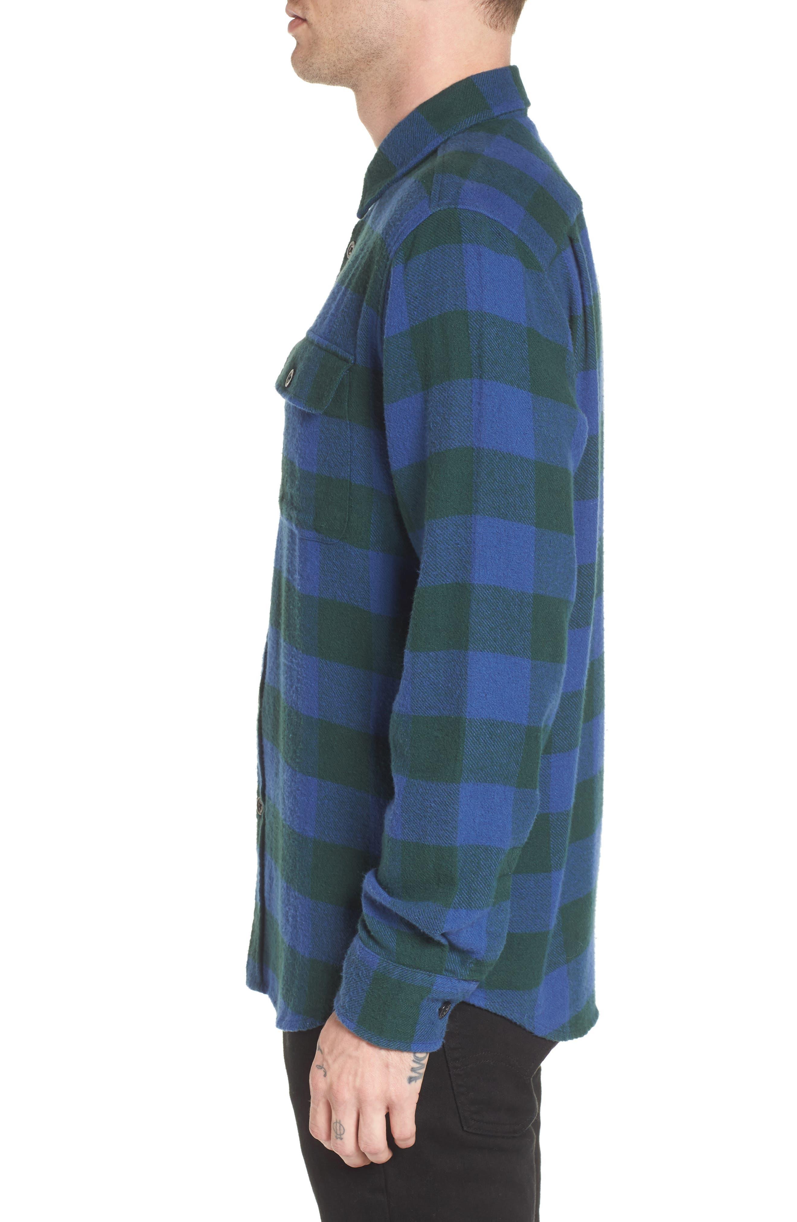 Trent Check Woven Shirt,                             Alternate thumbnail 3, color,                             Navy Multi