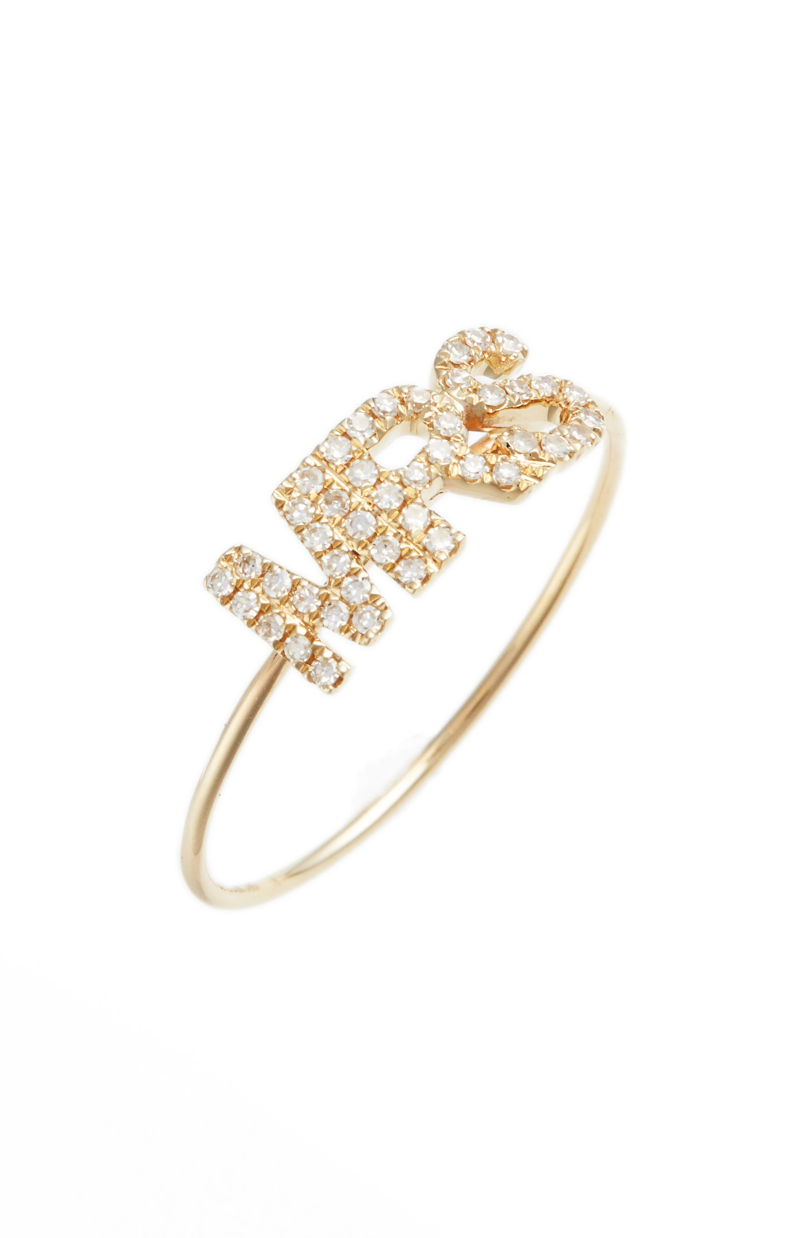 Mrs. Diamond Ring,                         Main,                         color, Yellow Gold