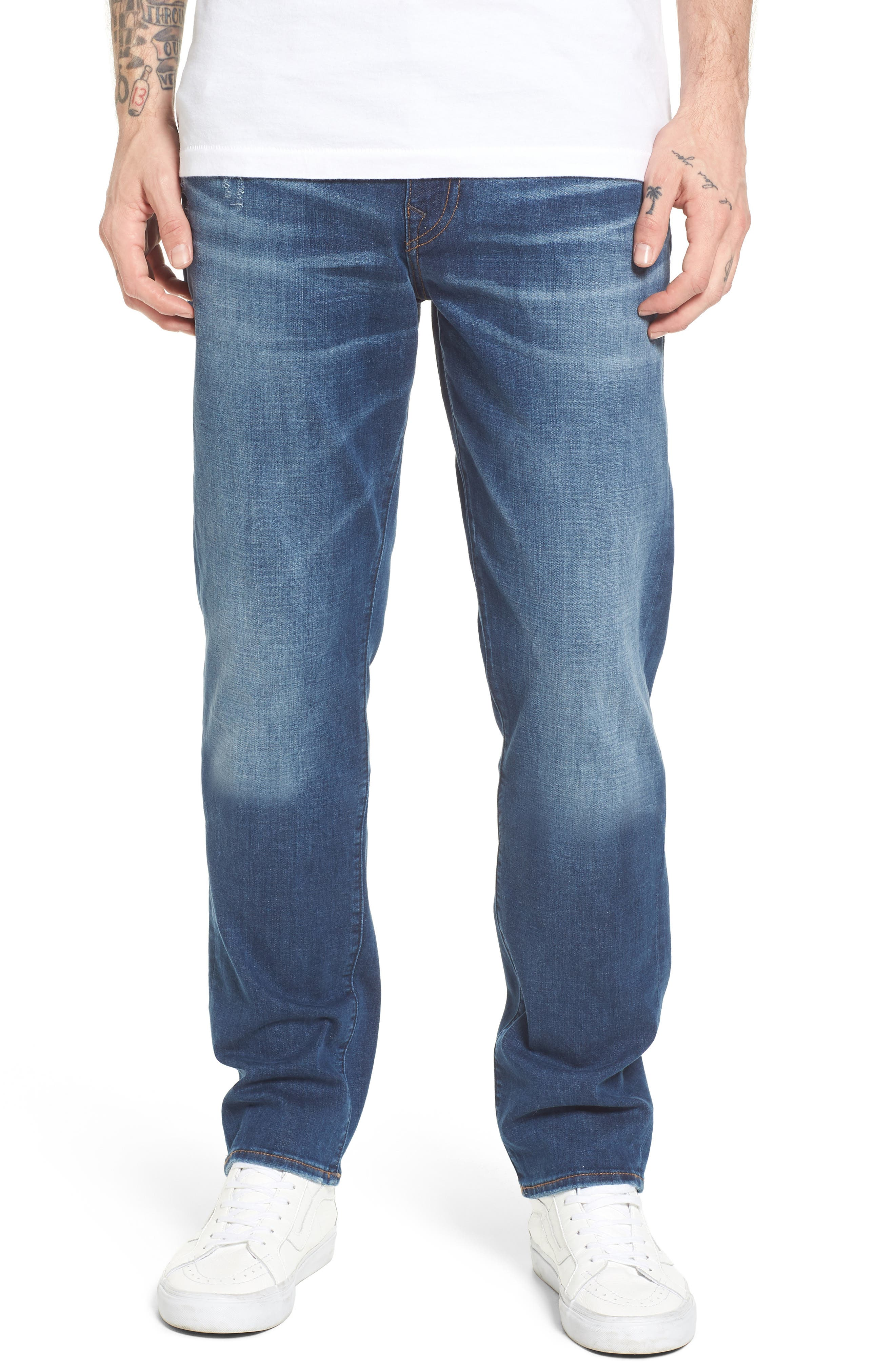 True Religion Brand Jeans Geno Straight Leg Jeans (Street Vice)