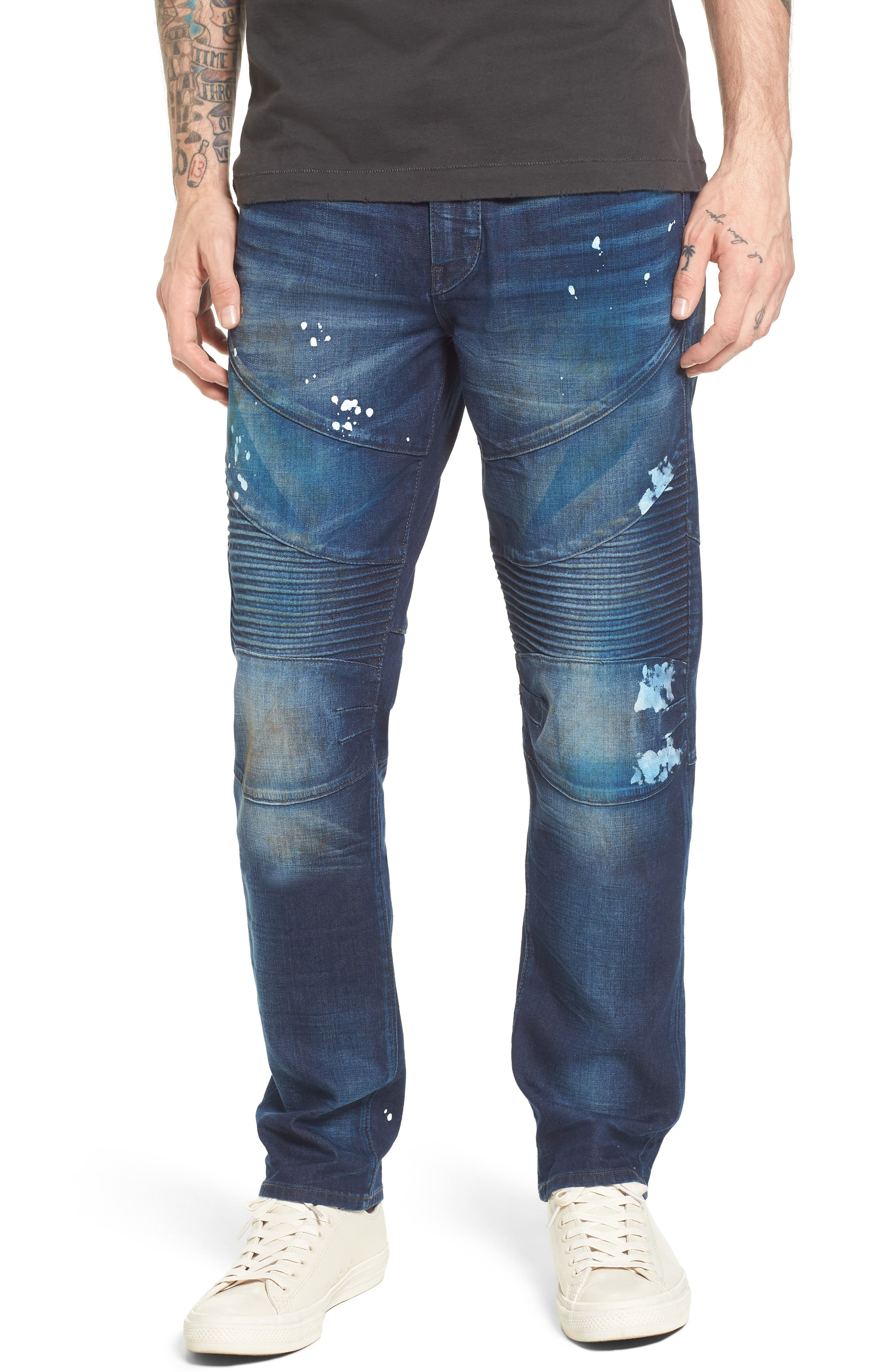 True Religion Brand Jeans Geno Straight Leg Jeans (Fragment Shadow)
