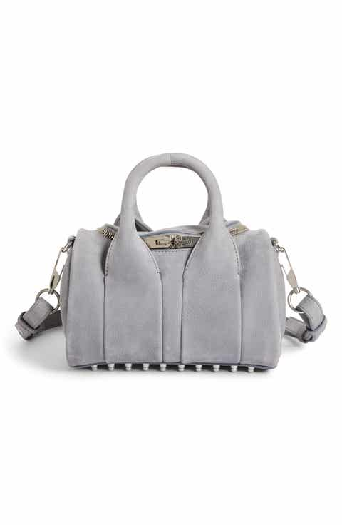 Alexander Mini Rockie Nickel Leather Satchel