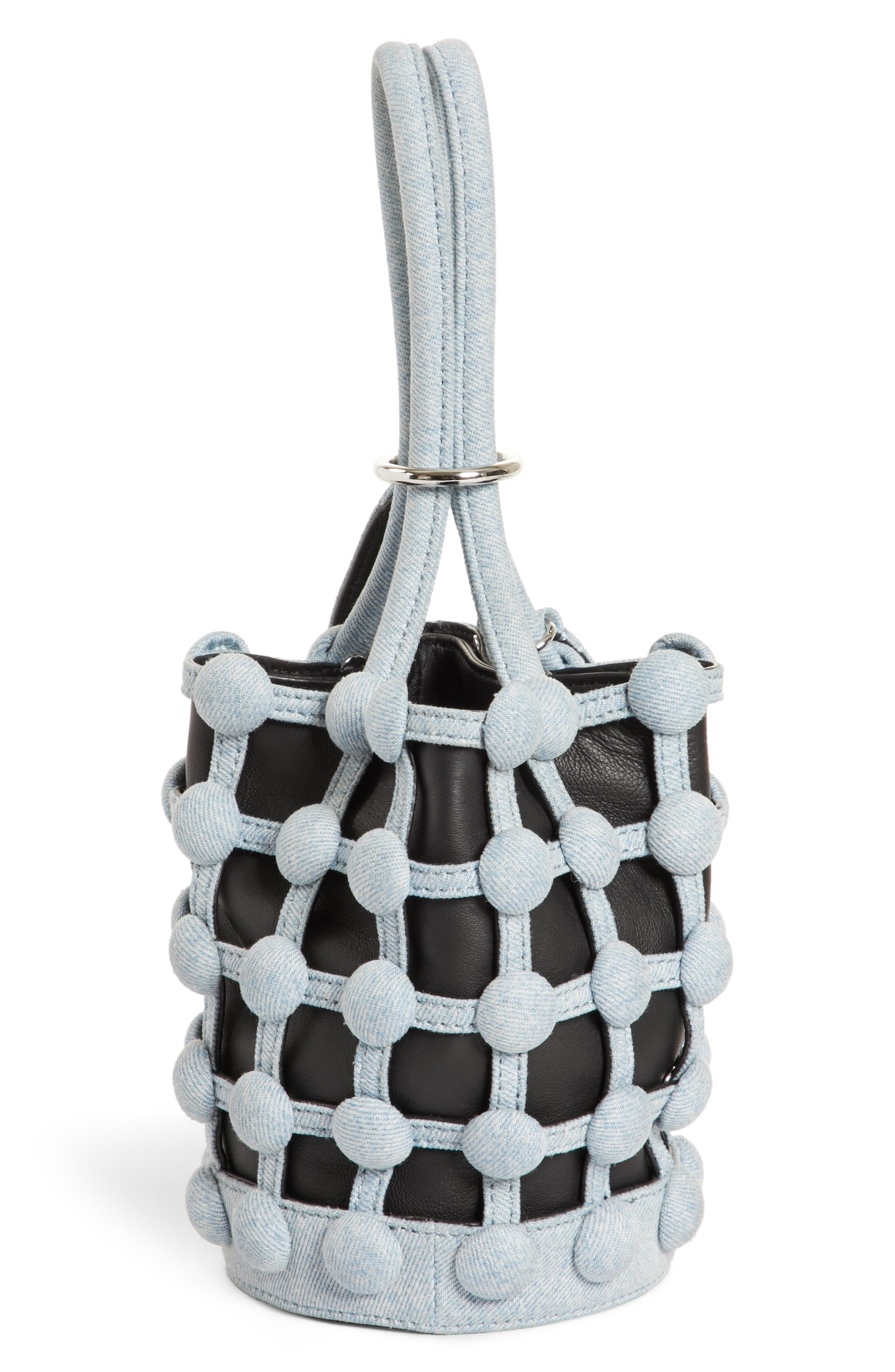 Alternate Image 5  - Alexander Wang Mini Roxy Denim Cage Leather Bucket Bag