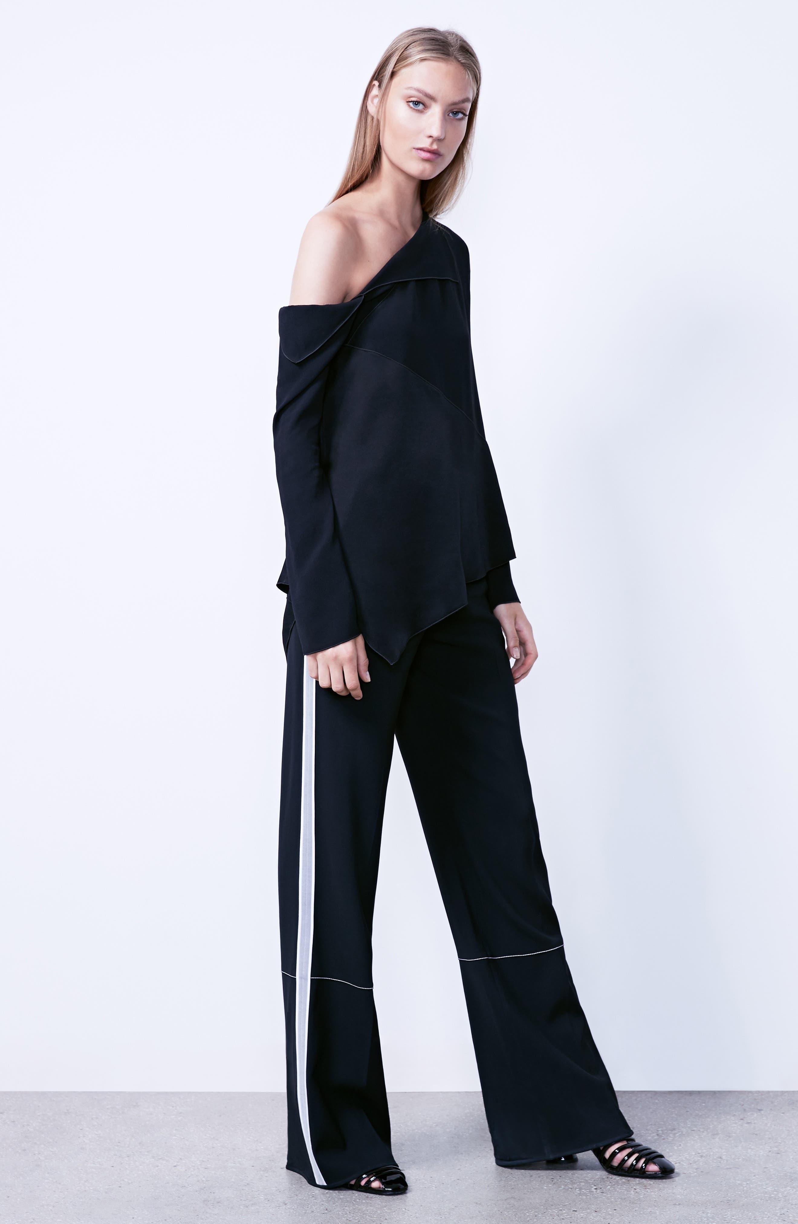 Alternate Image 6  - Proenza Schouler Single Shoulder Satin Back Crepe Blouse