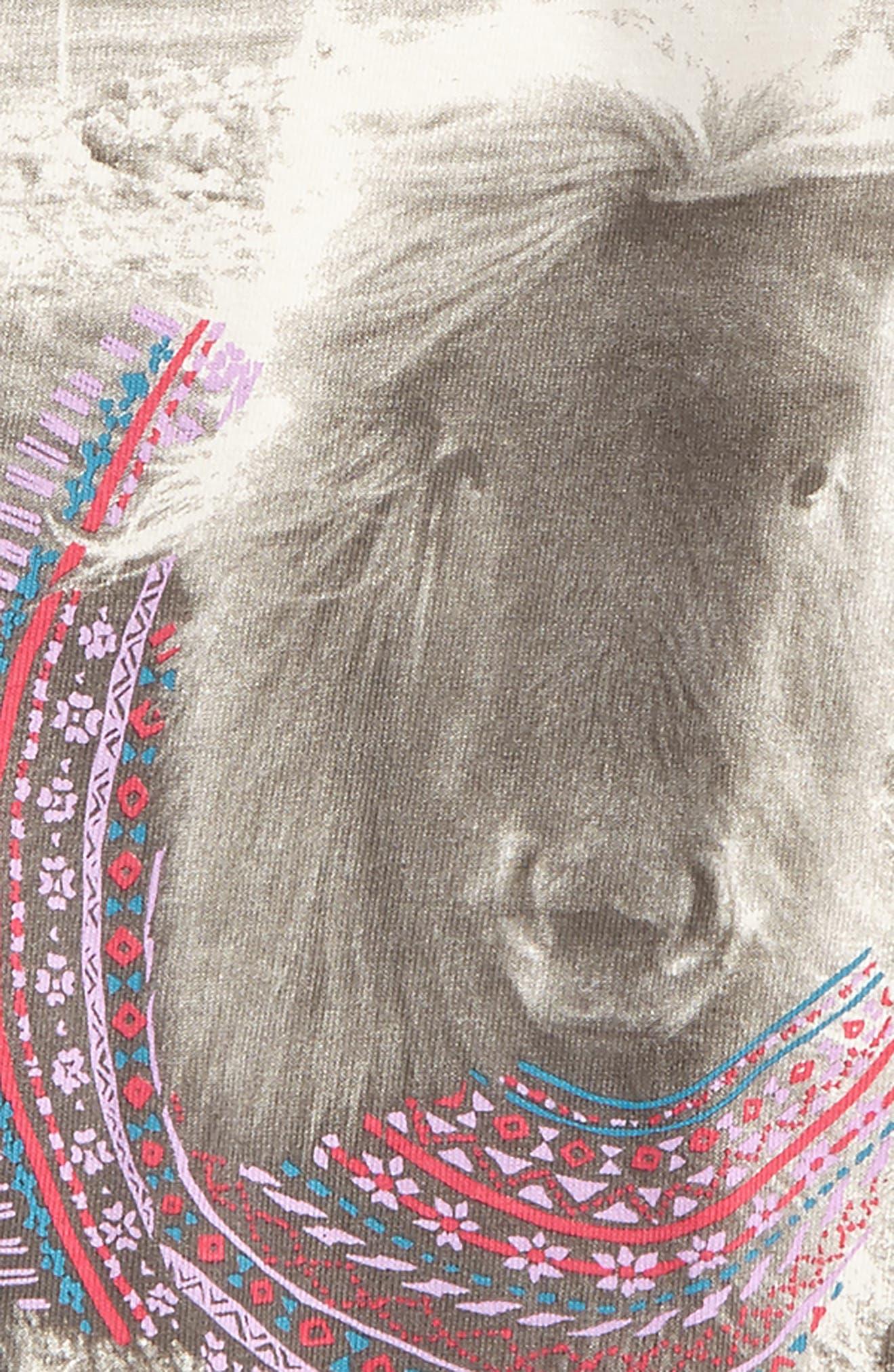 Alternate Image 2  - Tea Collection Shetland Sweater Tee (Toddler Girls, Little Girls & Big Girls)