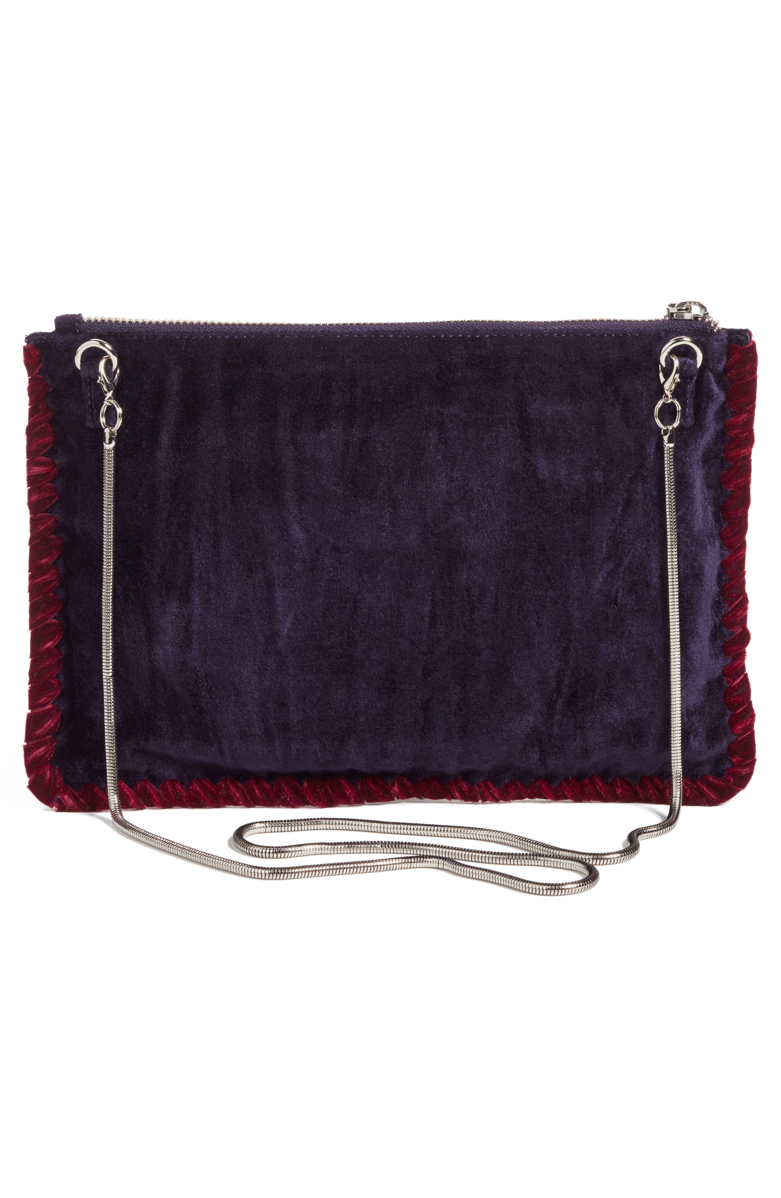 Embellished Clutch,                             Alternate thumbnail 2, color,                             Purple