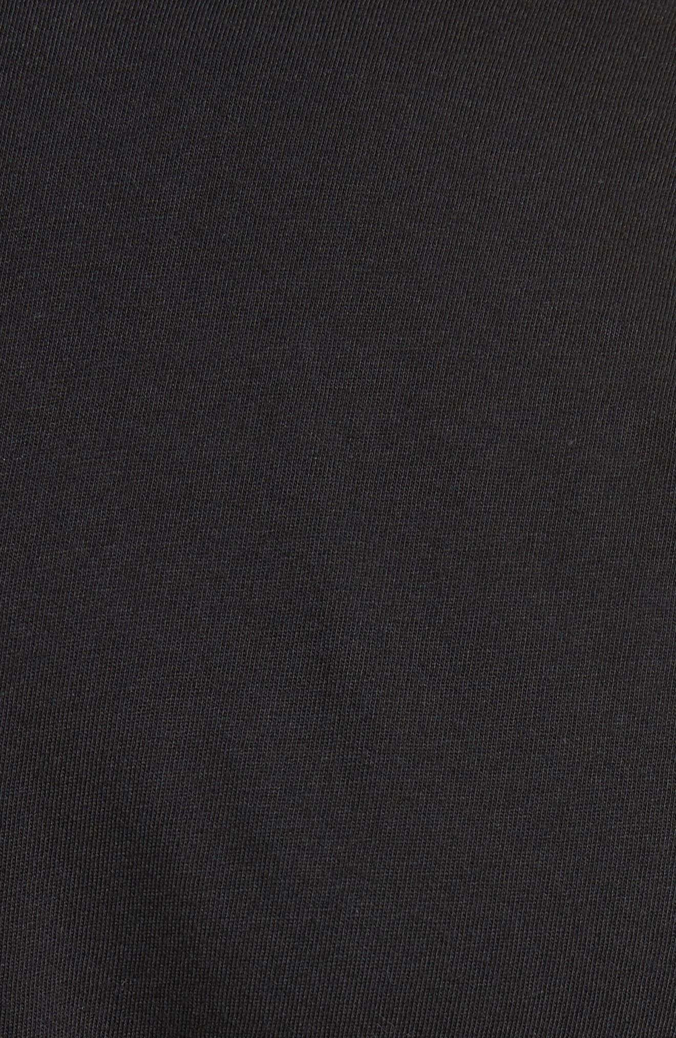 Sunset Graphic Long Sleeve T-Shirt,                             Alternate thumbnail 5, color,                             Black