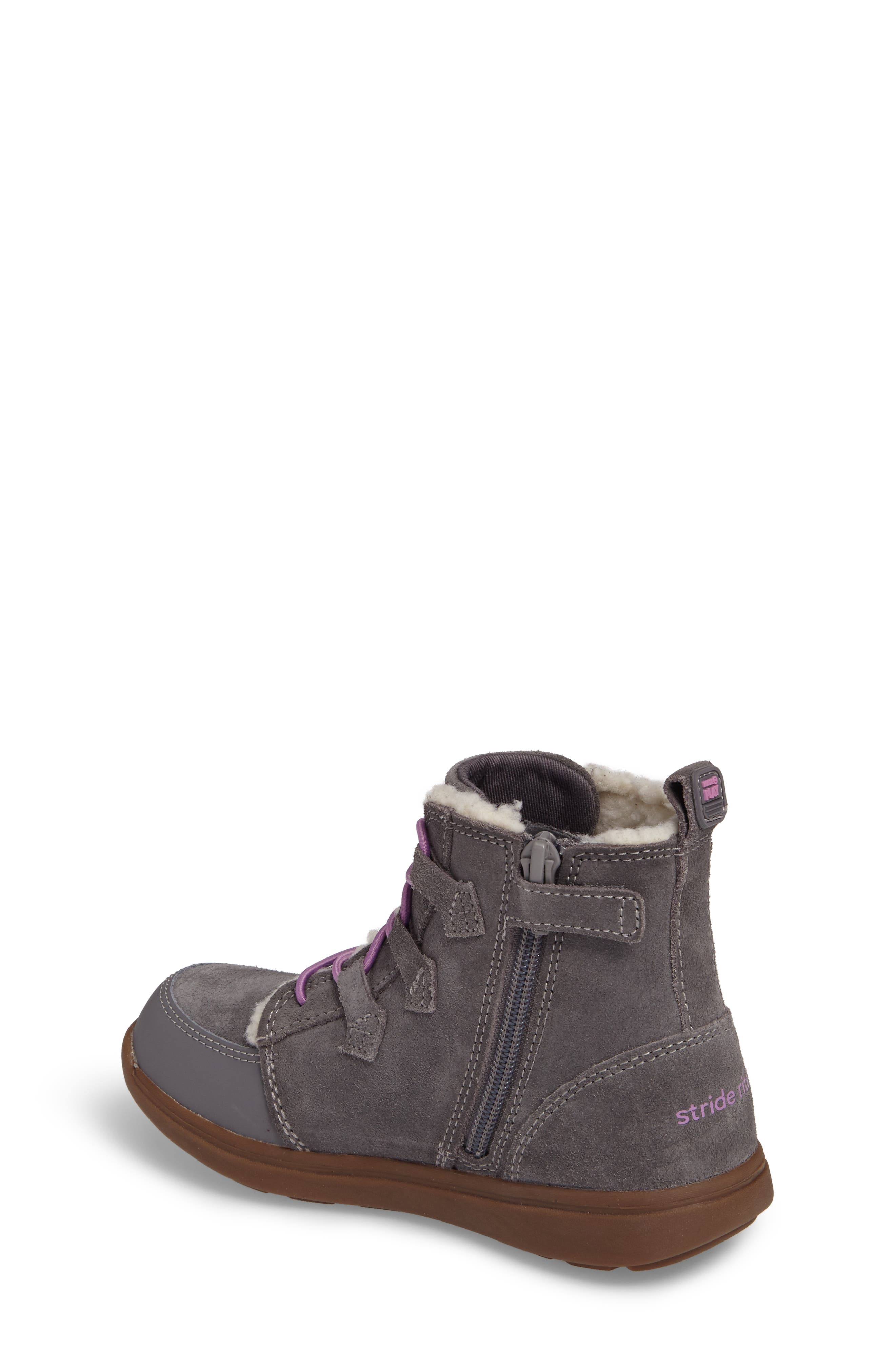 Alternate Image 2  - Stride Rite Made2Play® Washable Faux Fur Heather Bootie (Toddler & Little Kid)