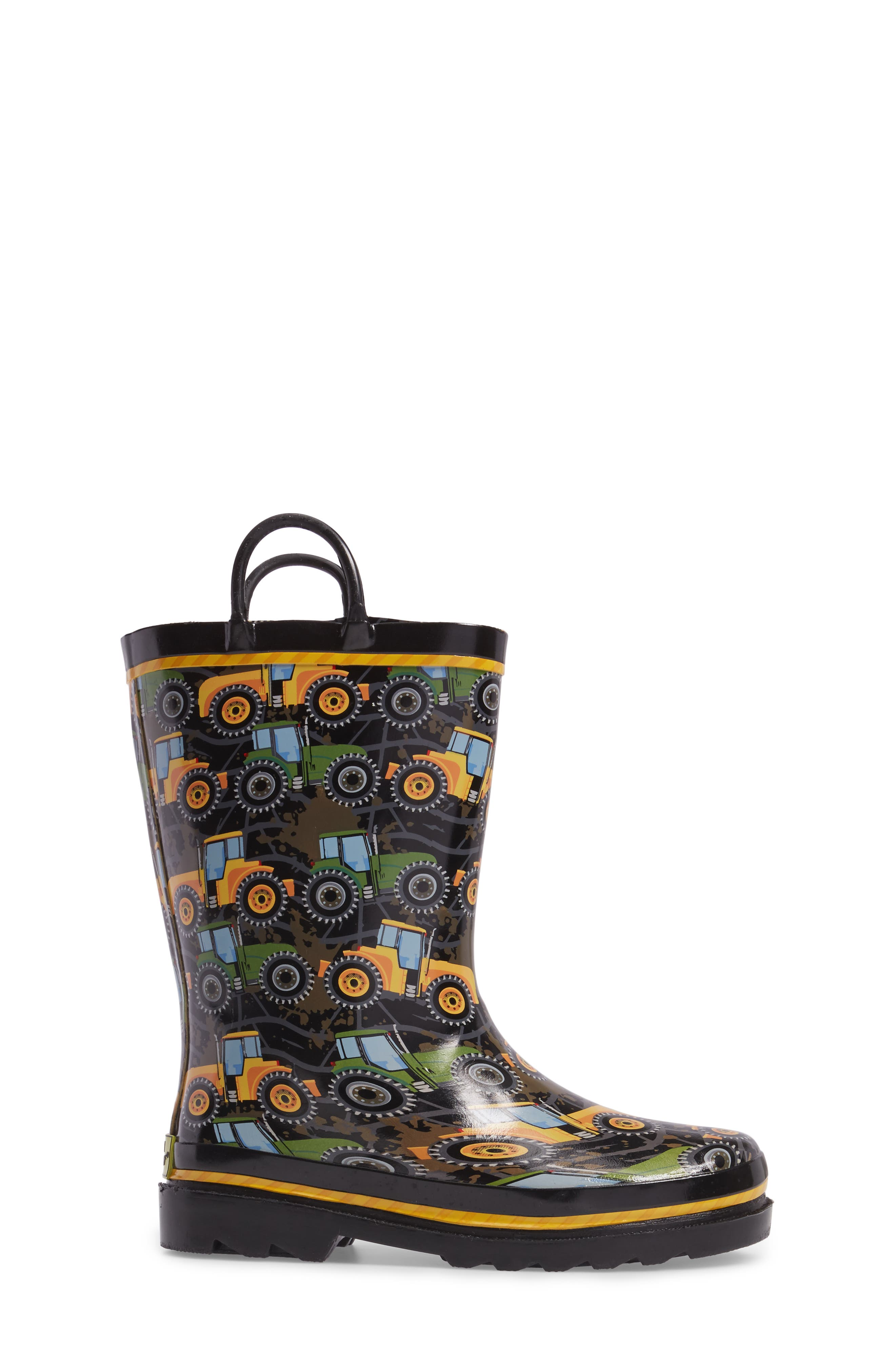 Tractor Tough Rain Boot,                             Alternate thumbnail 3, color,                             Black