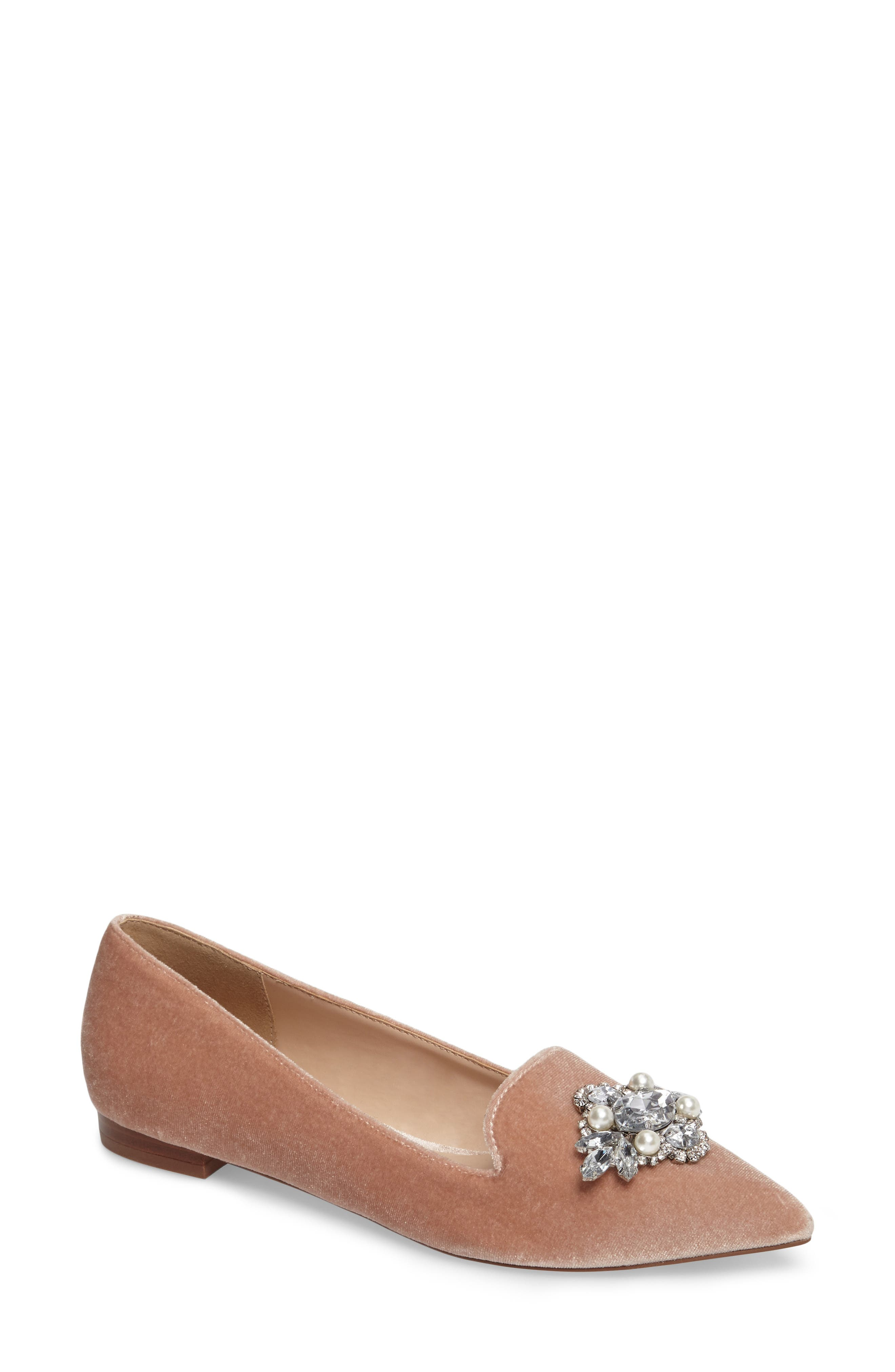 Main Image - Sole Society Libry Crystal Embellished Flat (Women)