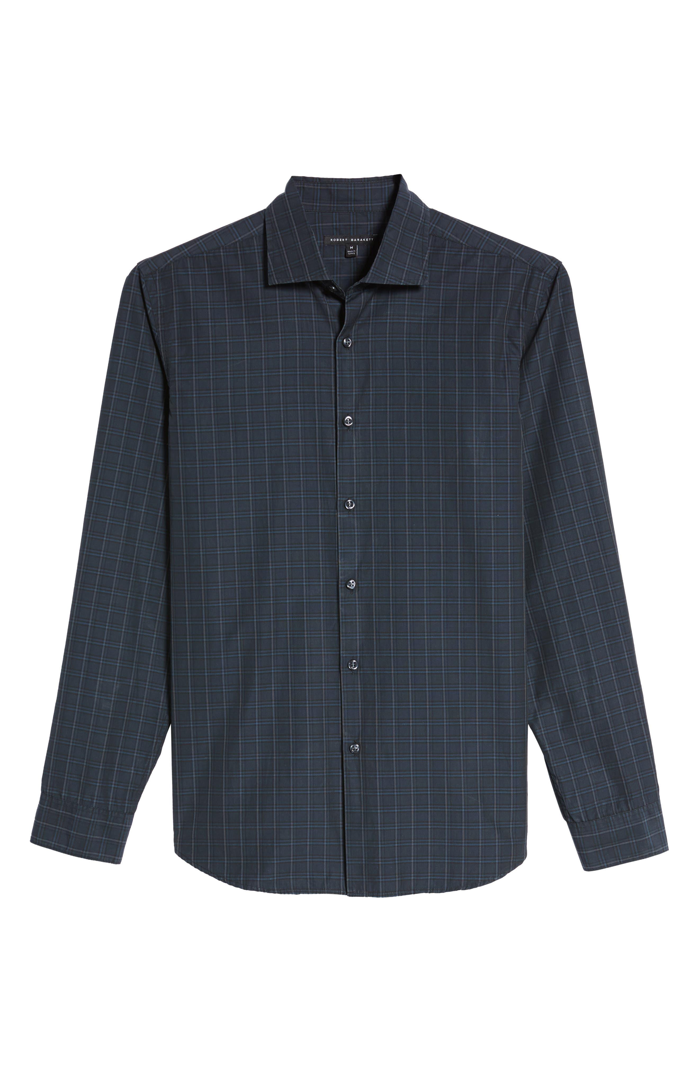 Alternate Image 6  - Robert Barakett Charleston Regular Fit Plaid Sport Shirt