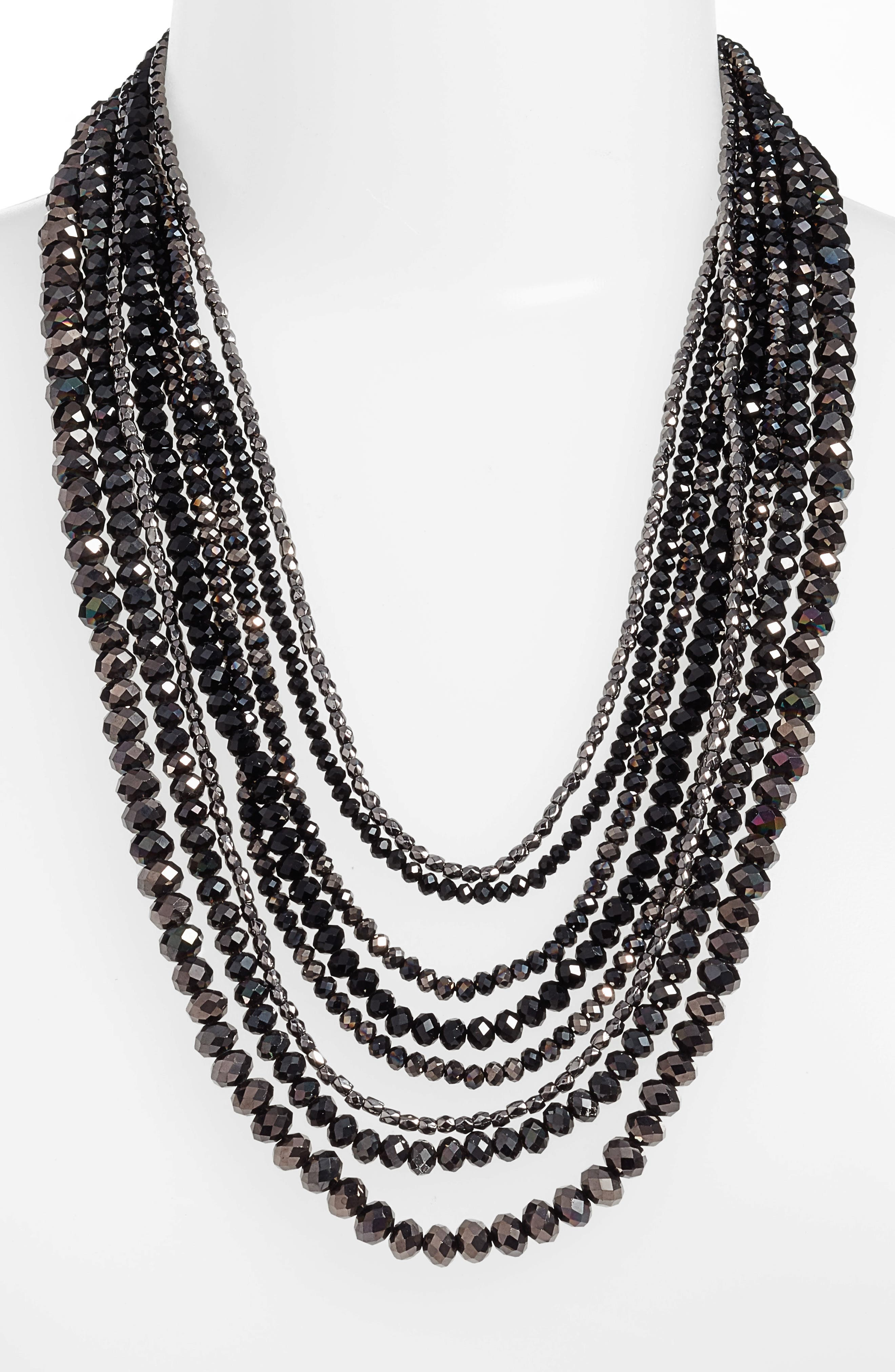 CRISTABELLE Multistrand Beaded Necklace