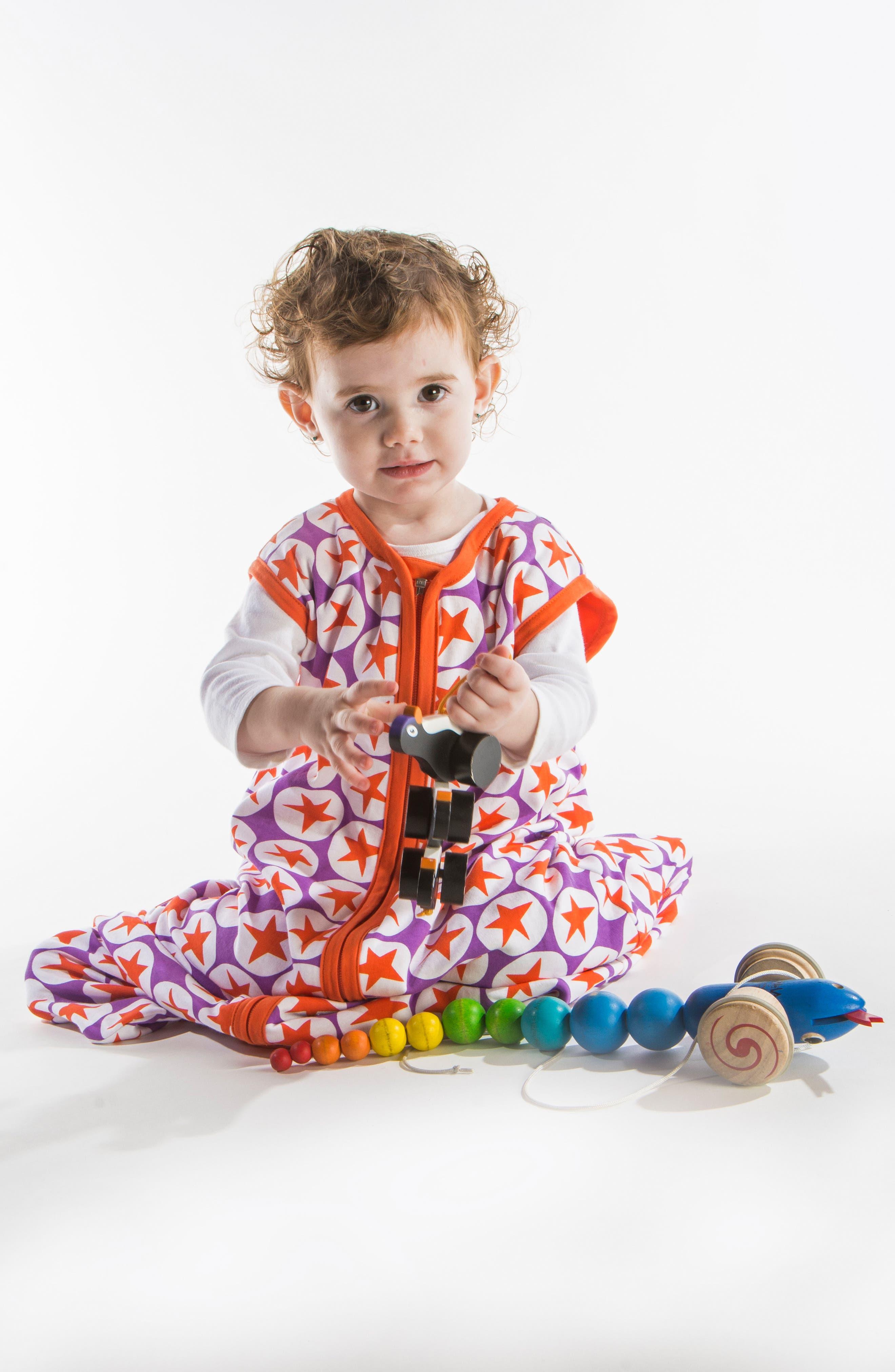 Alternate Image 2  - Little Fishkopp Stars Organic Cotton Wearable Blanket (Baby)