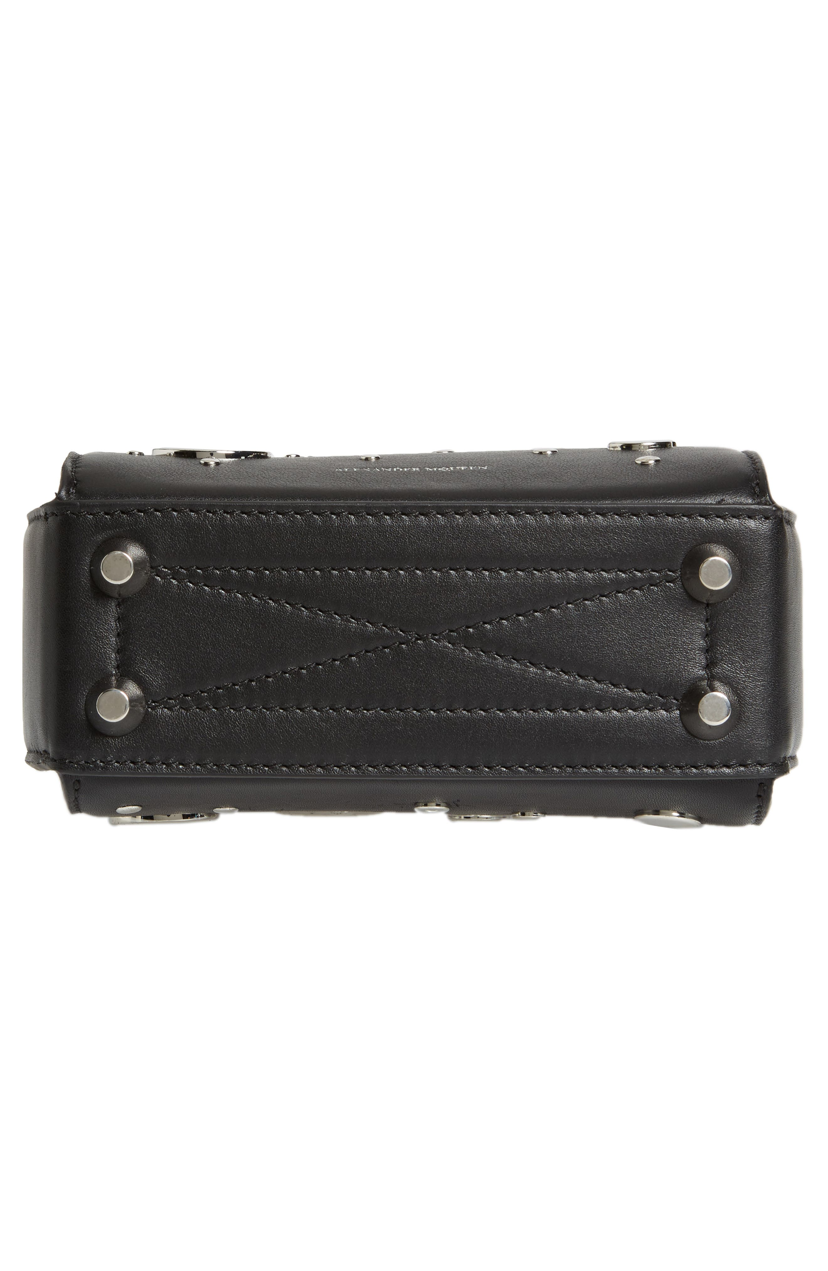Box Bag 16 Matte Calfskin Bag,                             Alternate thumbnail 5, color,                             Black/ Red