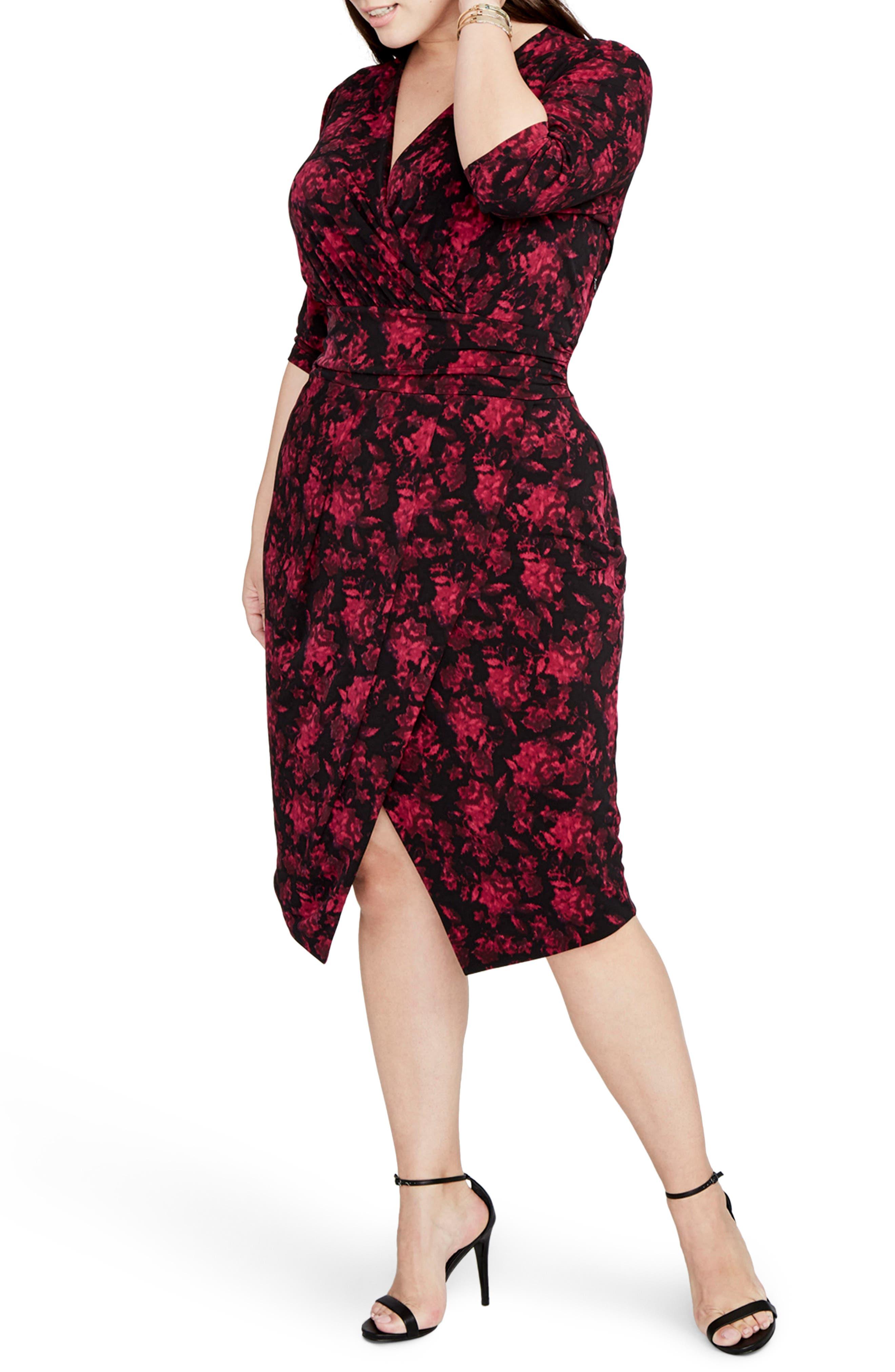 Alternate Image 3  - RACHEL Rachel Roy Print Wrap Front Jersey Dress (Plus Size)